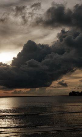 22769 скачать обои Пейзаж, Закат, Море, Облака - заставки и картинки бесплатно