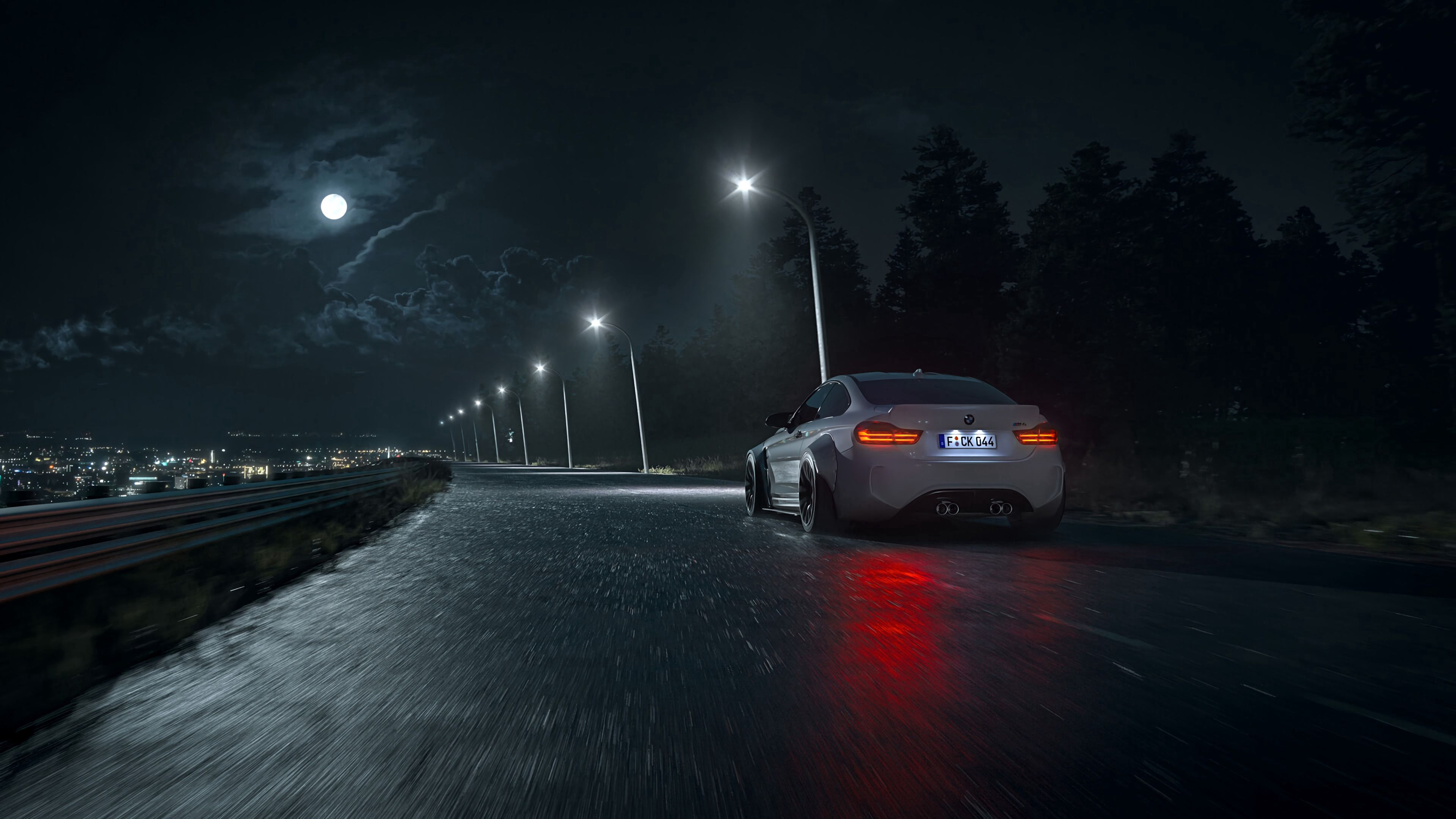 53223 Screensavers and Wallpapers Wet for phone. Download Night, Cars, Dark, Road, Wet, Car, Asphalt, Machine pictures for free