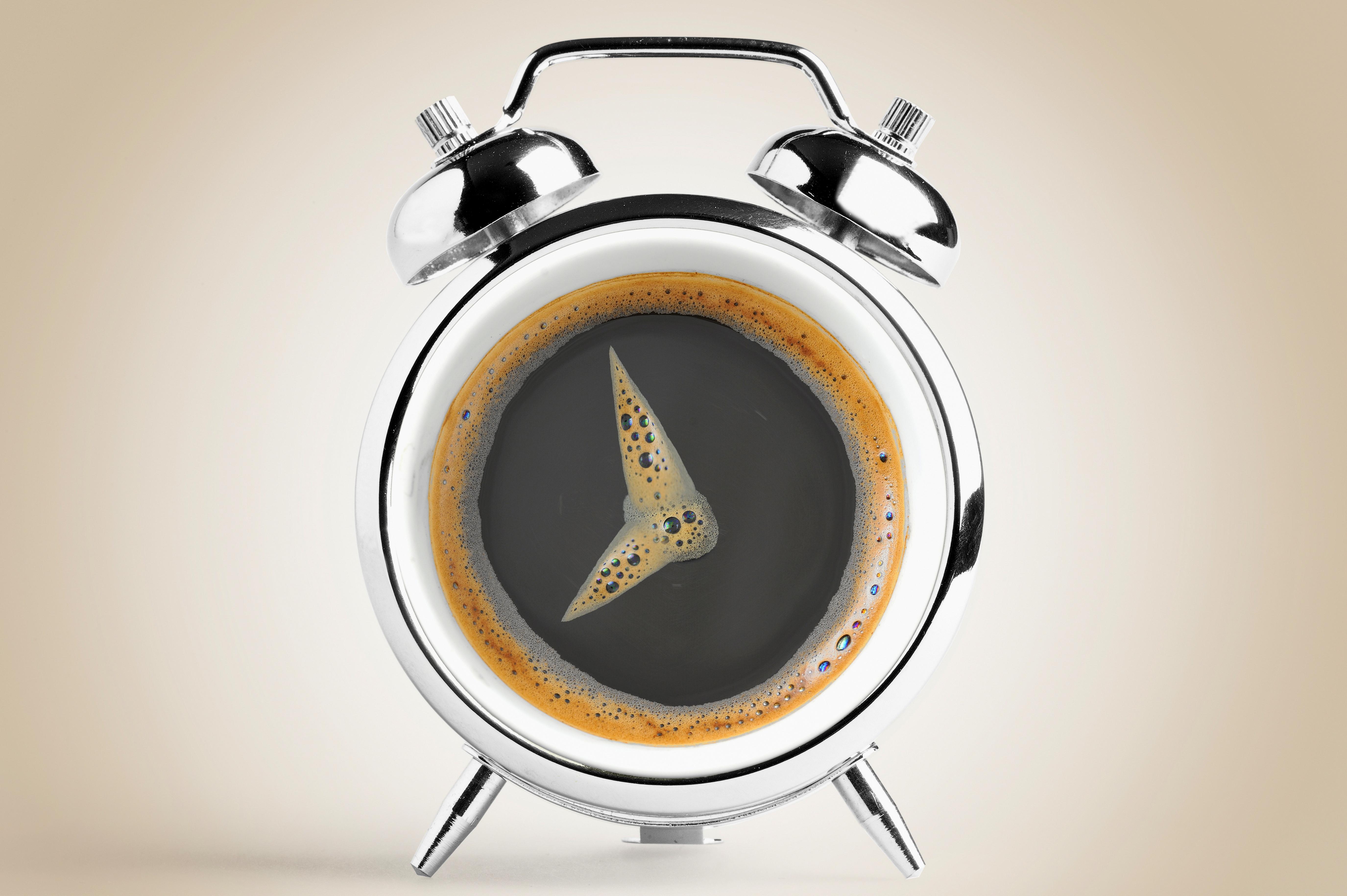 57218 Hintergrundbild herunterladen Coffee, Verschiedenes, Sonstige, Bild, Zeichnung, Schaum, Wecker - Bildschirmschoner und Bilder kostenlos