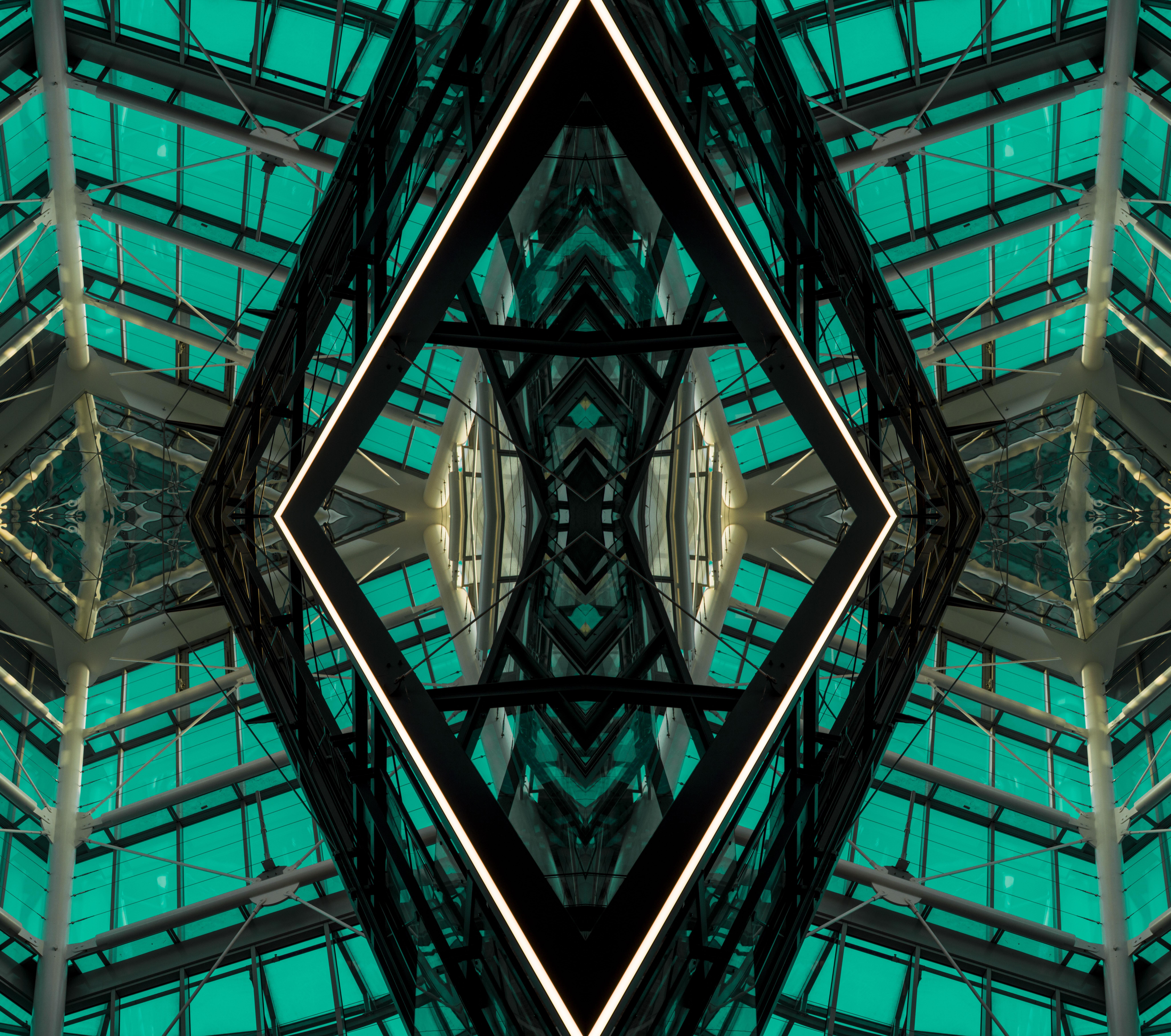 139217 télécharger le fond d'écran Divers, Conception, Construction, Symétrie, Géométrie, En Miroir, Miroir, L'architecture - économiseurs d'écran et images gratuitement