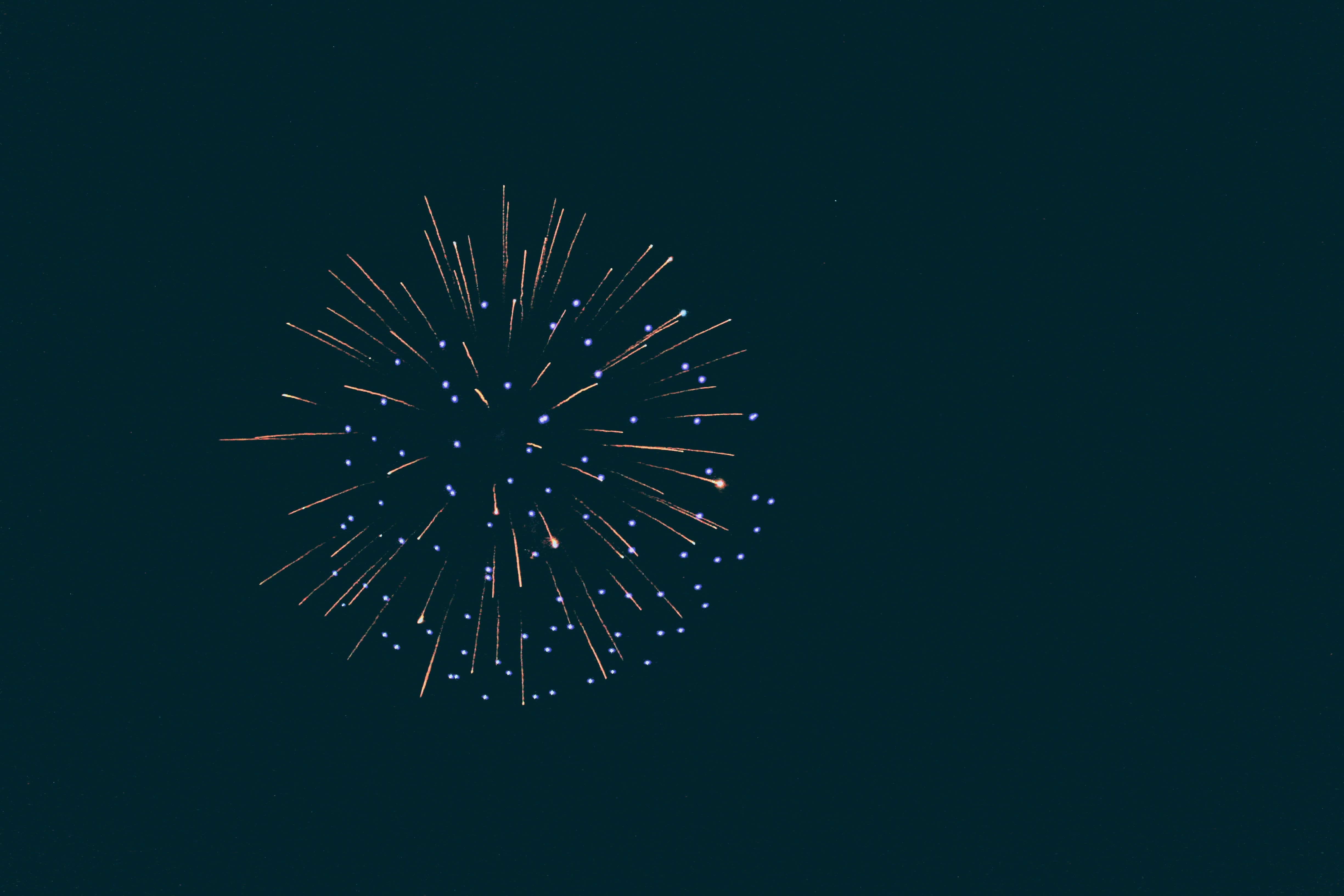 143650 download wallpaper Holidays, Salute, Fireworks, Firework, Sparks, Glow, Night screensavers and pictures for free
