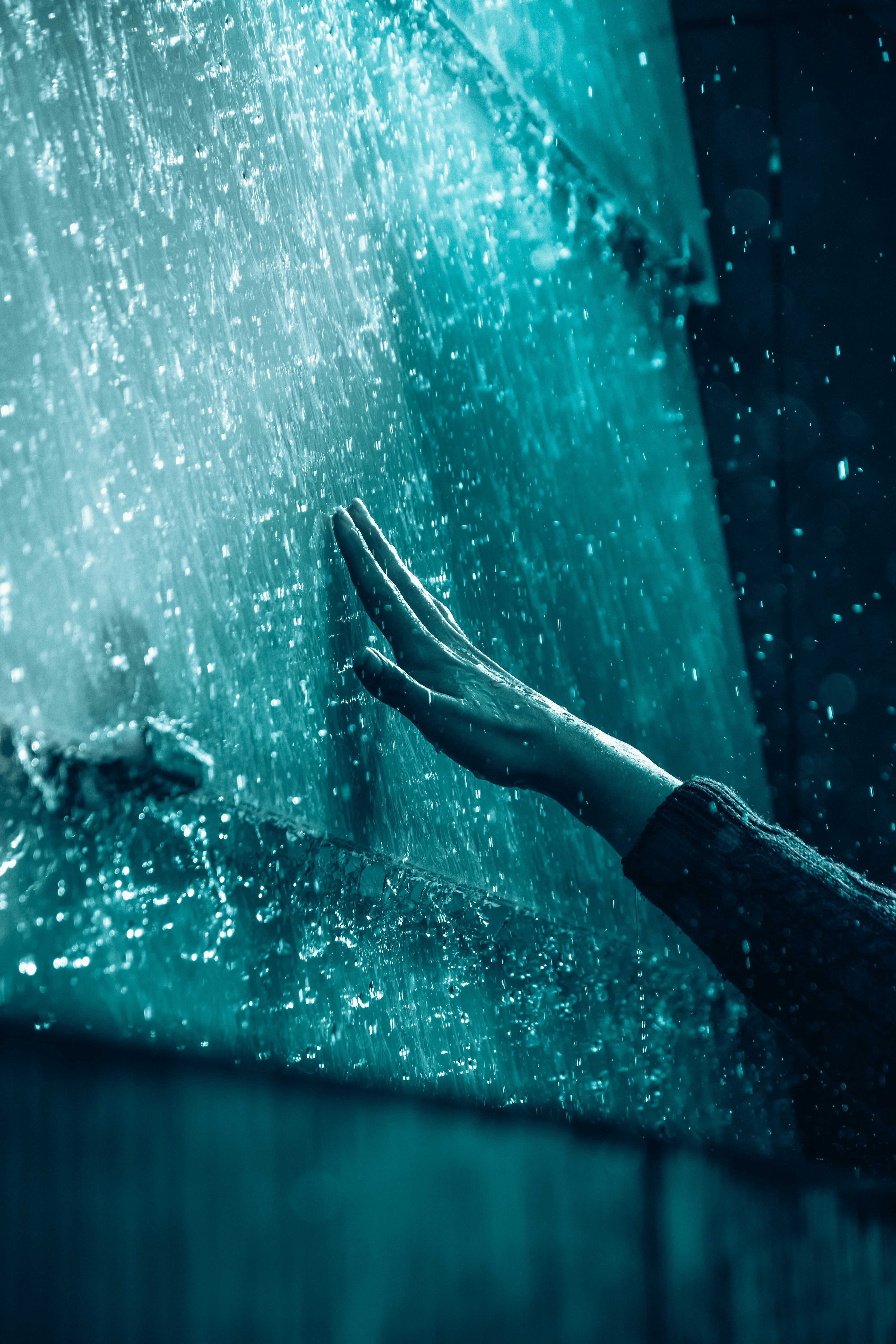 83848 Screensavers and Wallpapers Rain for phone. Download Rain, Drops, Hand, Miscellanea, Miscellaneous, Touch pictures for free
