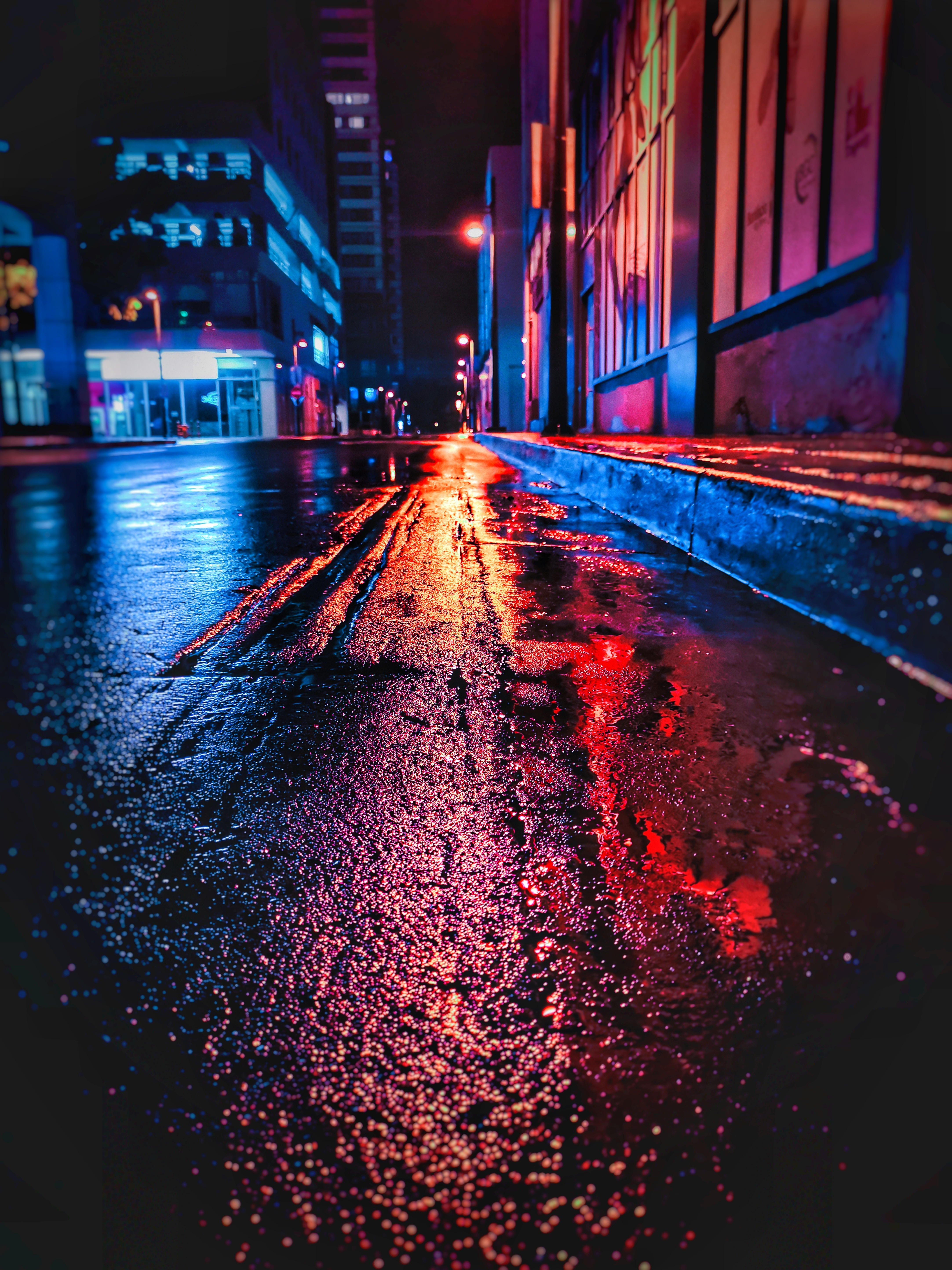 78626 Screensavers and Wallpapers Wet for phone. Download Night, City, Dark, Wet, Neon, Street pictures for free