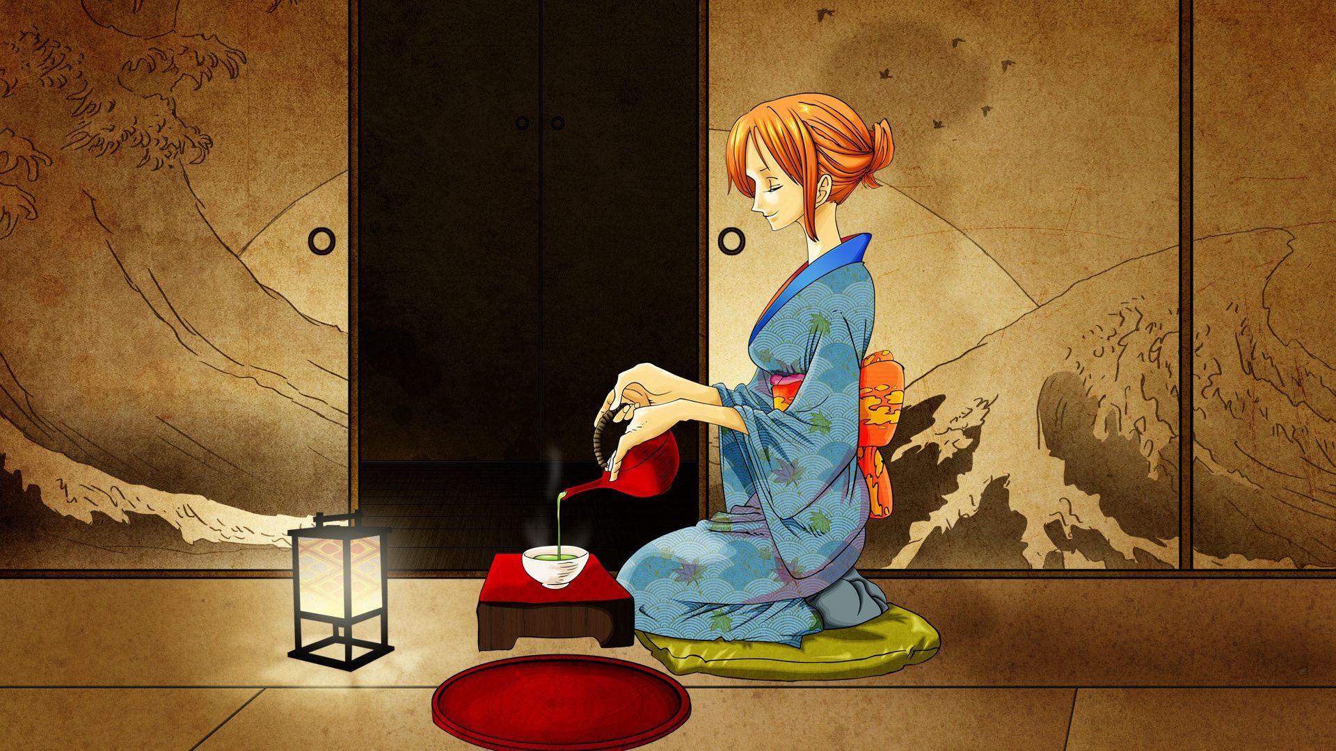 86305壁紙のダウンロード日本製アニメ, 女の子, 着物, 式, セレモニー, お茶, 茶-スクリーンセーバーと写真を無料で