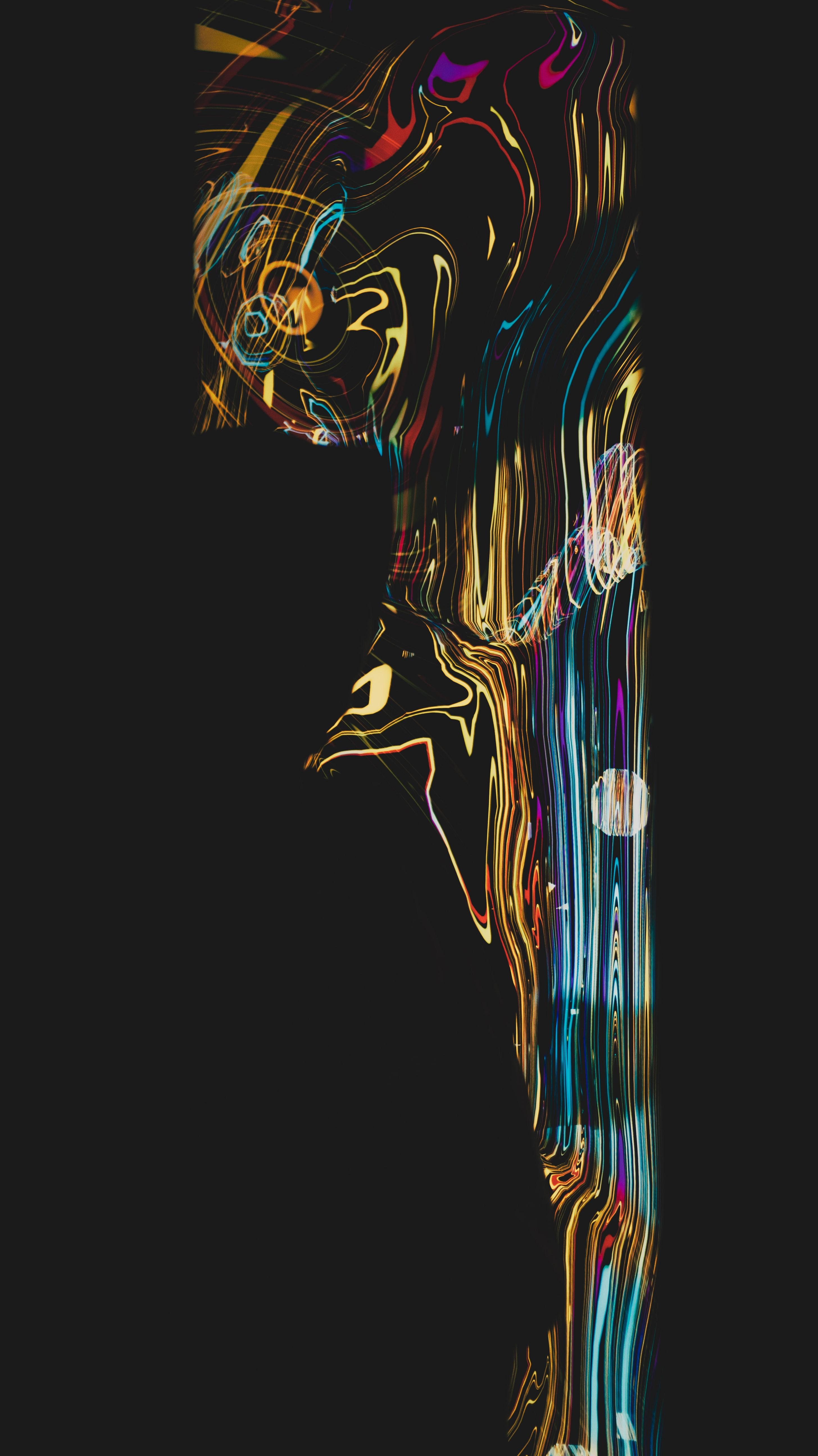 152015 скачать обои Темные, Полосы, Разноцветный, Искажение, Черный - заставки и картинки бесплатно