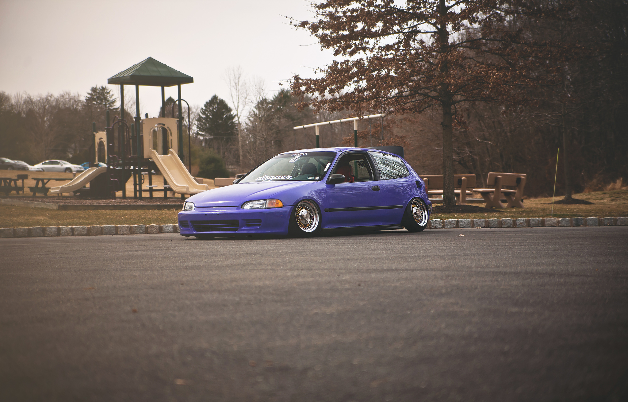 75743 Screensavers and Wallpapers Purple for phone. Download Violet, Cars, Side View, Purple, Honda Civic pictures for free