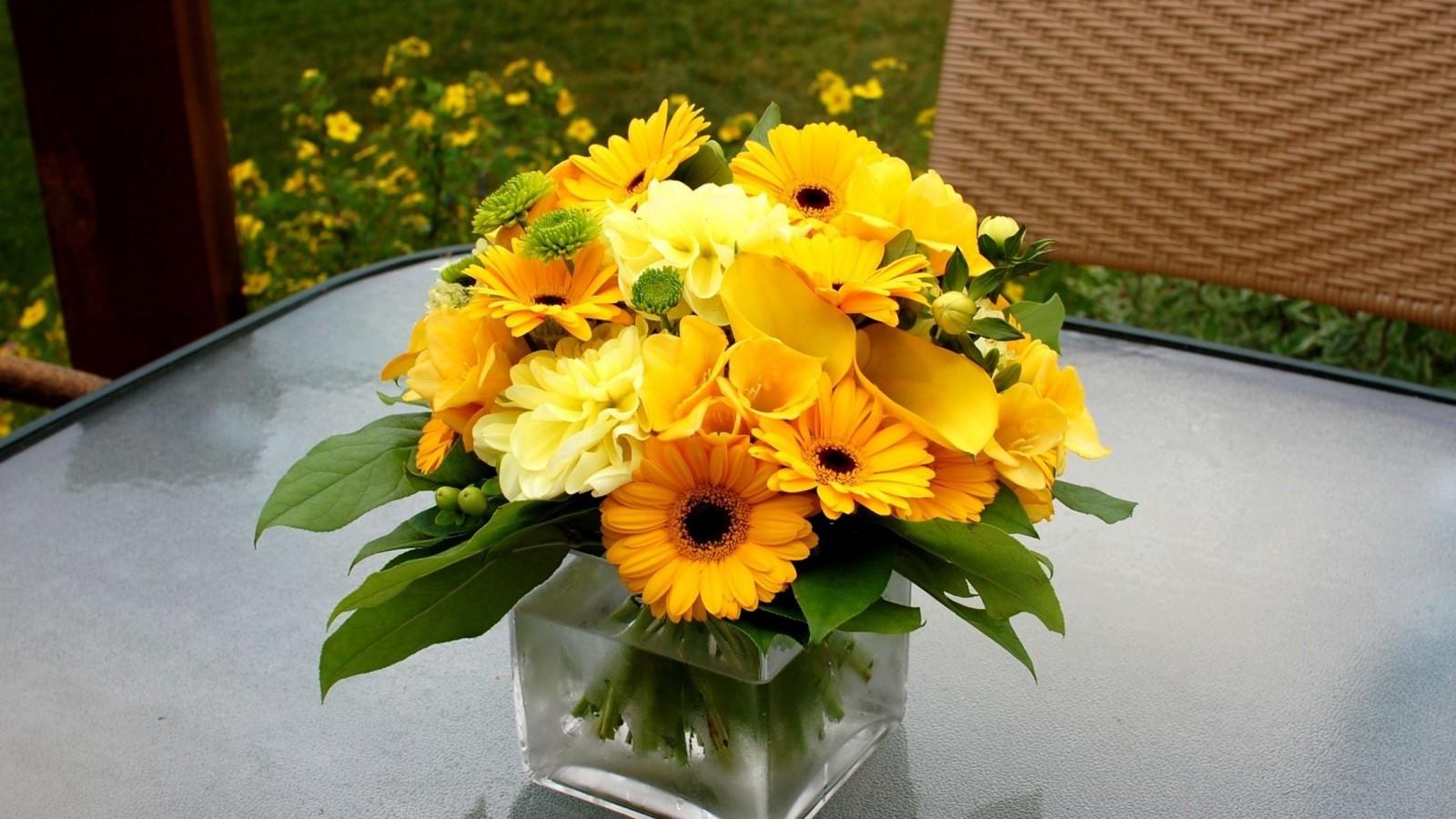 17068 Hintergrundbild herunterladen Sonnenblumen, Pflanzen, Blumen, Still-Leben - Bildschirmschoner und Bilder kostenlos