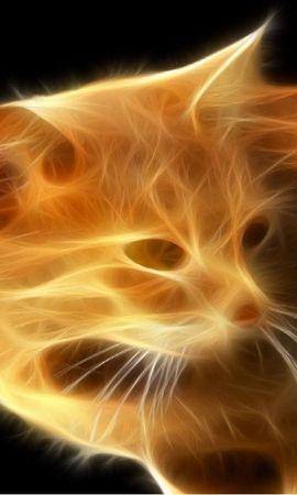 45755 скачать обои Животные, Кошки (Коты, Котики), Фэнтези - заставки и картинки бесплатно