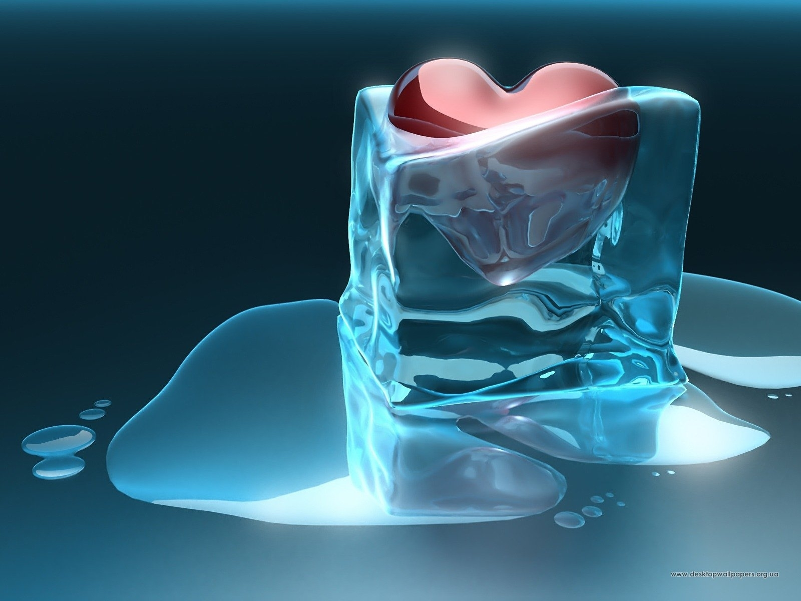 272 download wallpaper Holidays, Art, Hearts, Ice, Love, Valentine's Day screensavers and pictures for free