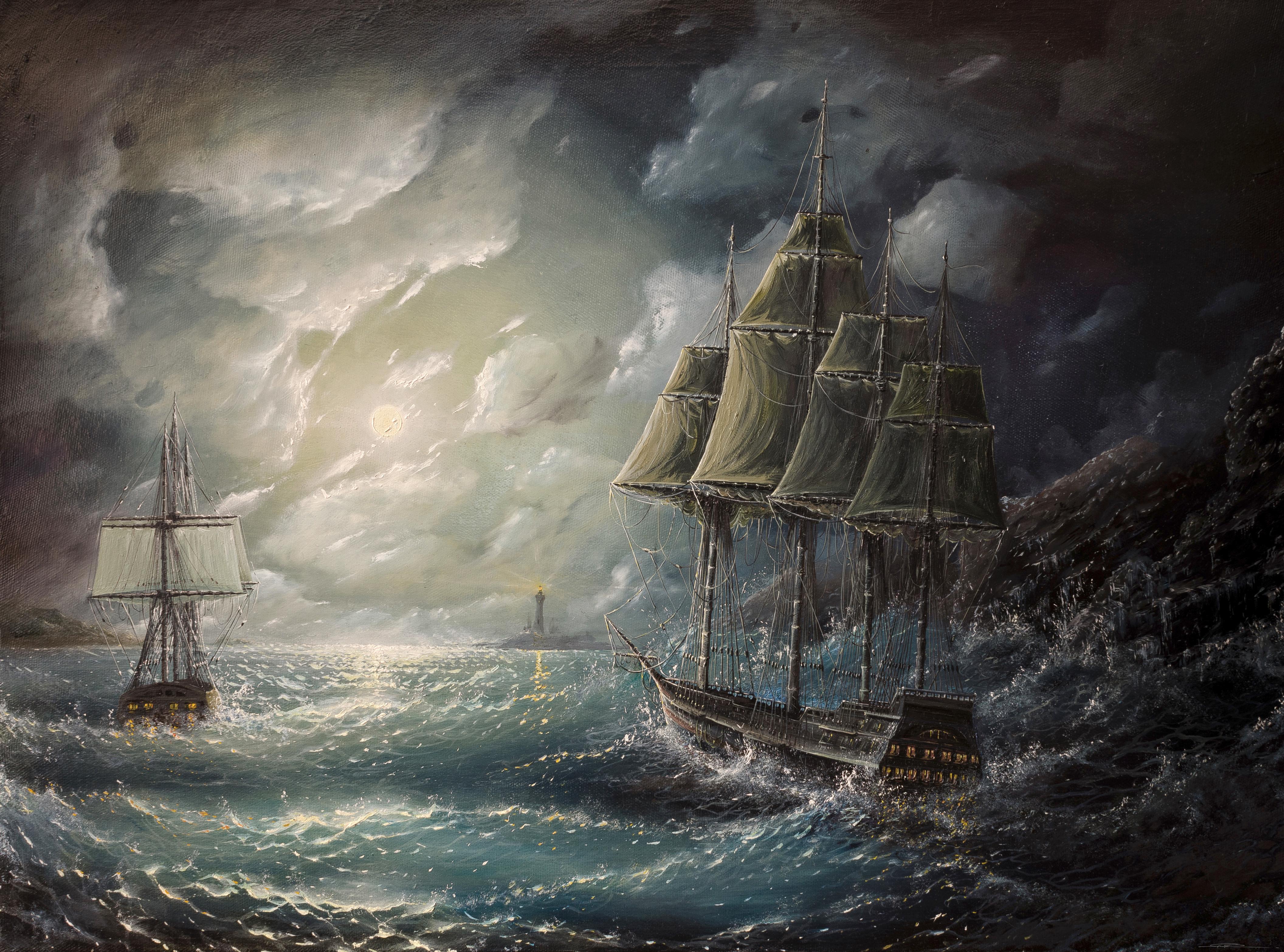 93708 baixar papel de parede Mar, Velejar, Vela, Foto, Desenho, Arte, Tempestade - protetores de tela e imagens gratuitamente