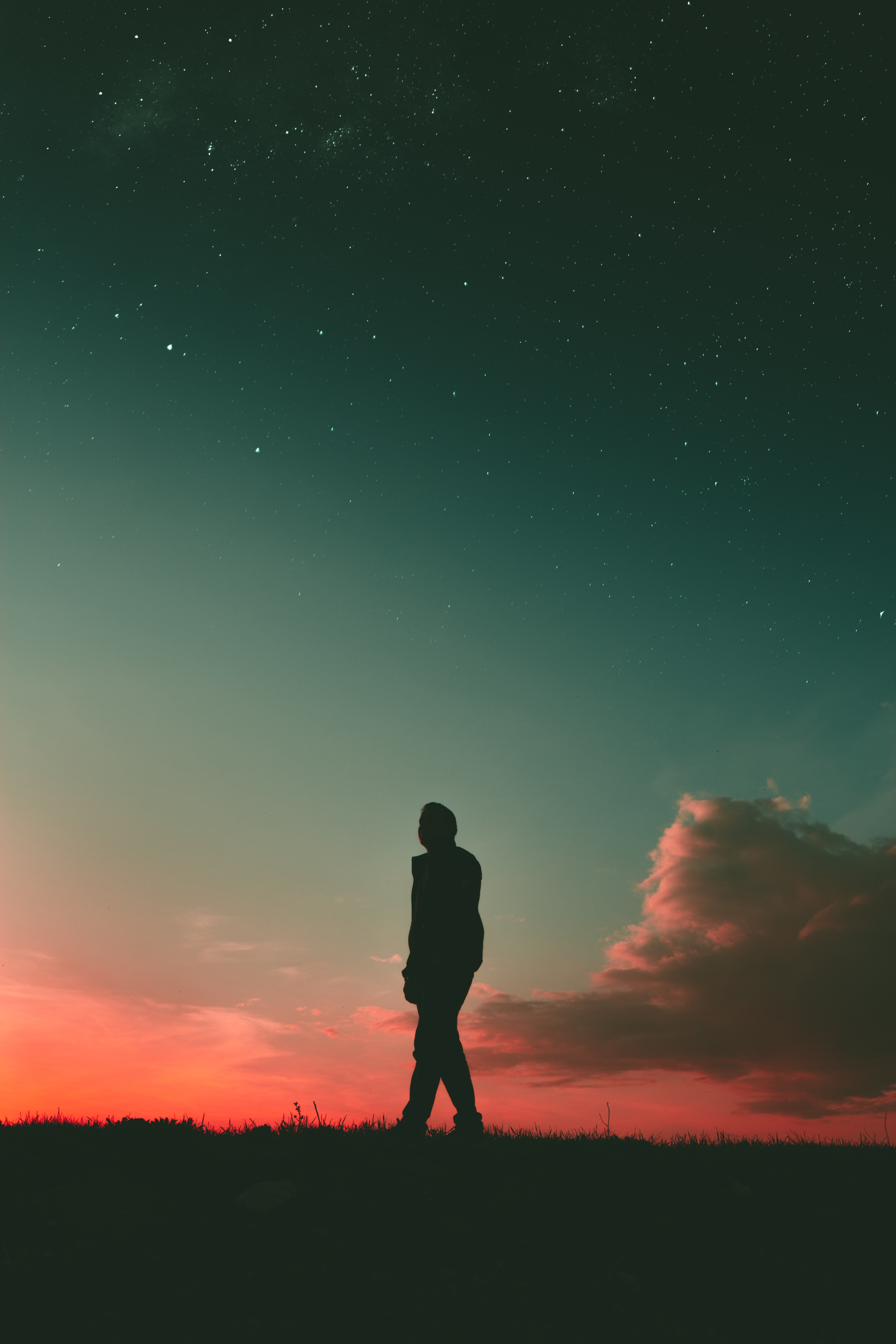 80782 Screensavers and Wallpapers Stroll for phone. Download Sunset, Sky, Dark, Silhouette, Stroll, Human, Person pictures for free