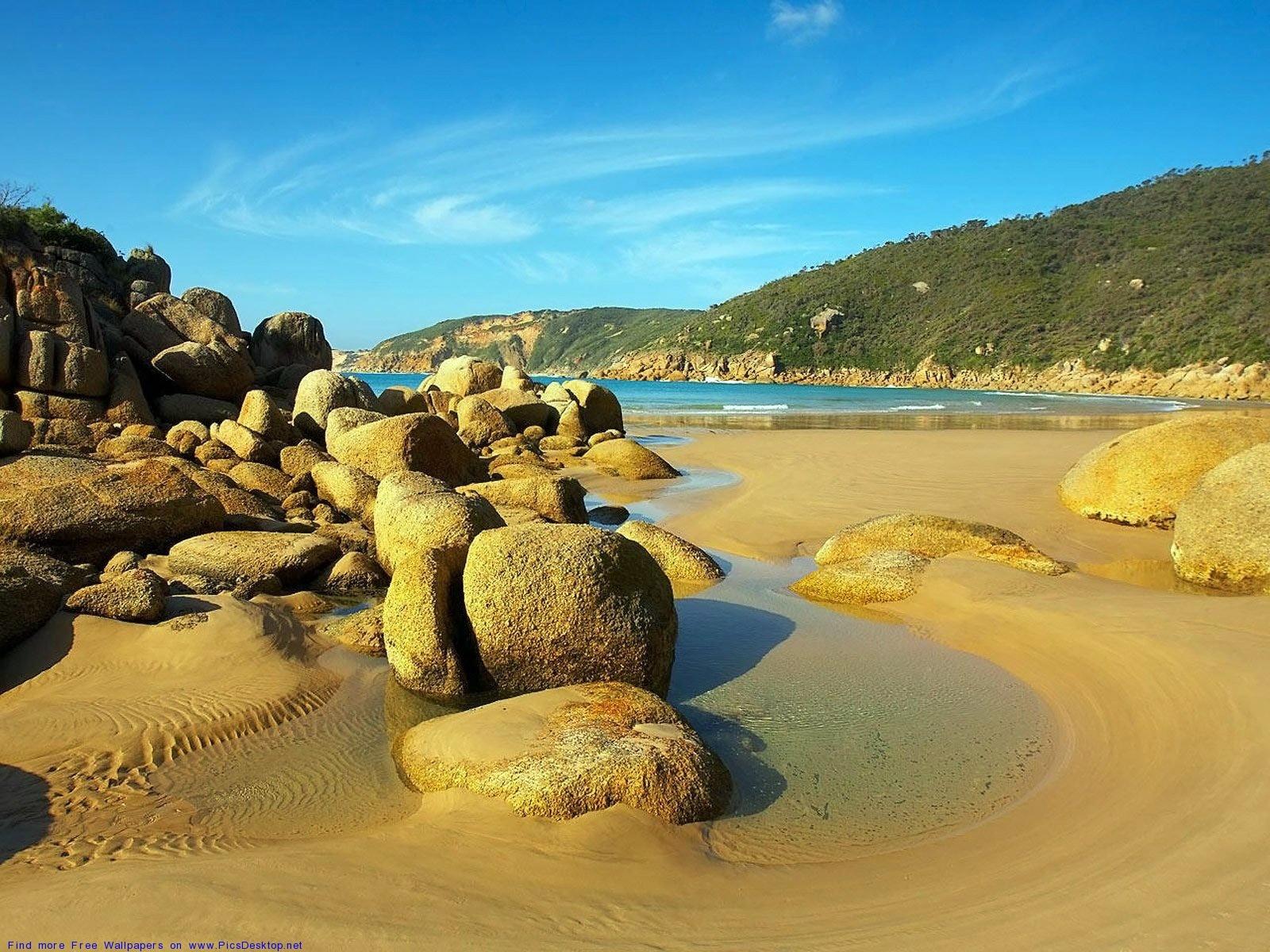 10775 скачать обои Пейзаж, Камни, Пляж - заставки и картинки бесплатно