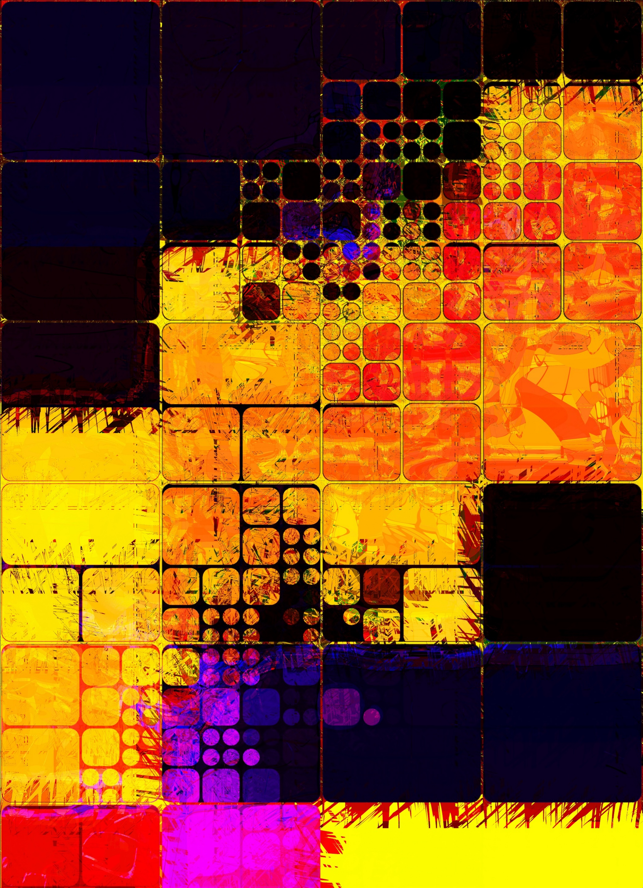 88361 Screensavers and Wallpapers Form for phone. Download Multicolored, Motley, Texture, Textures, Form, Forms, Dimensions (Edit), Dimension, Squares pictures for free
