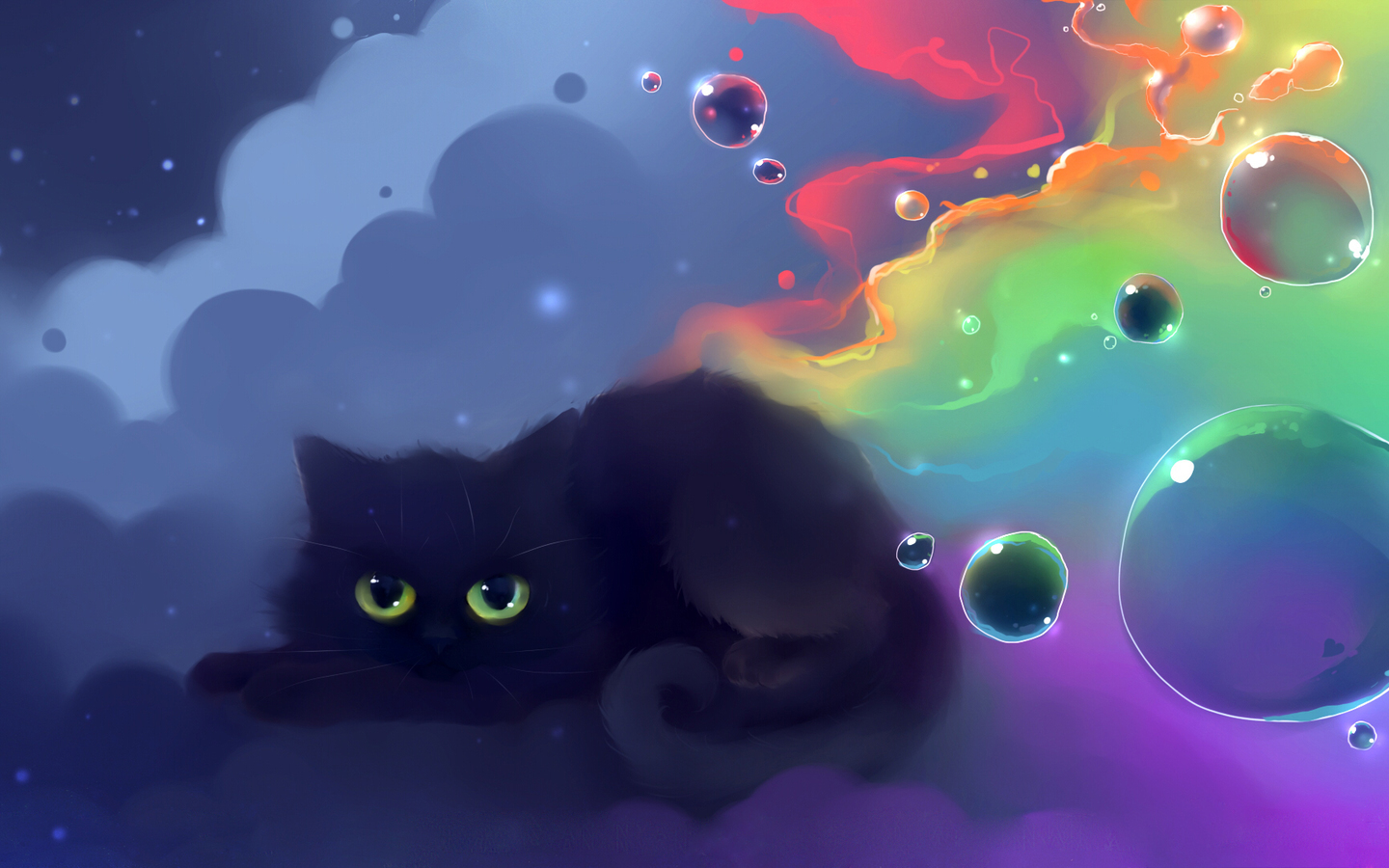 13705 download wallpaper Animals, Cats, Art, Pictures screensavers and pictures for free