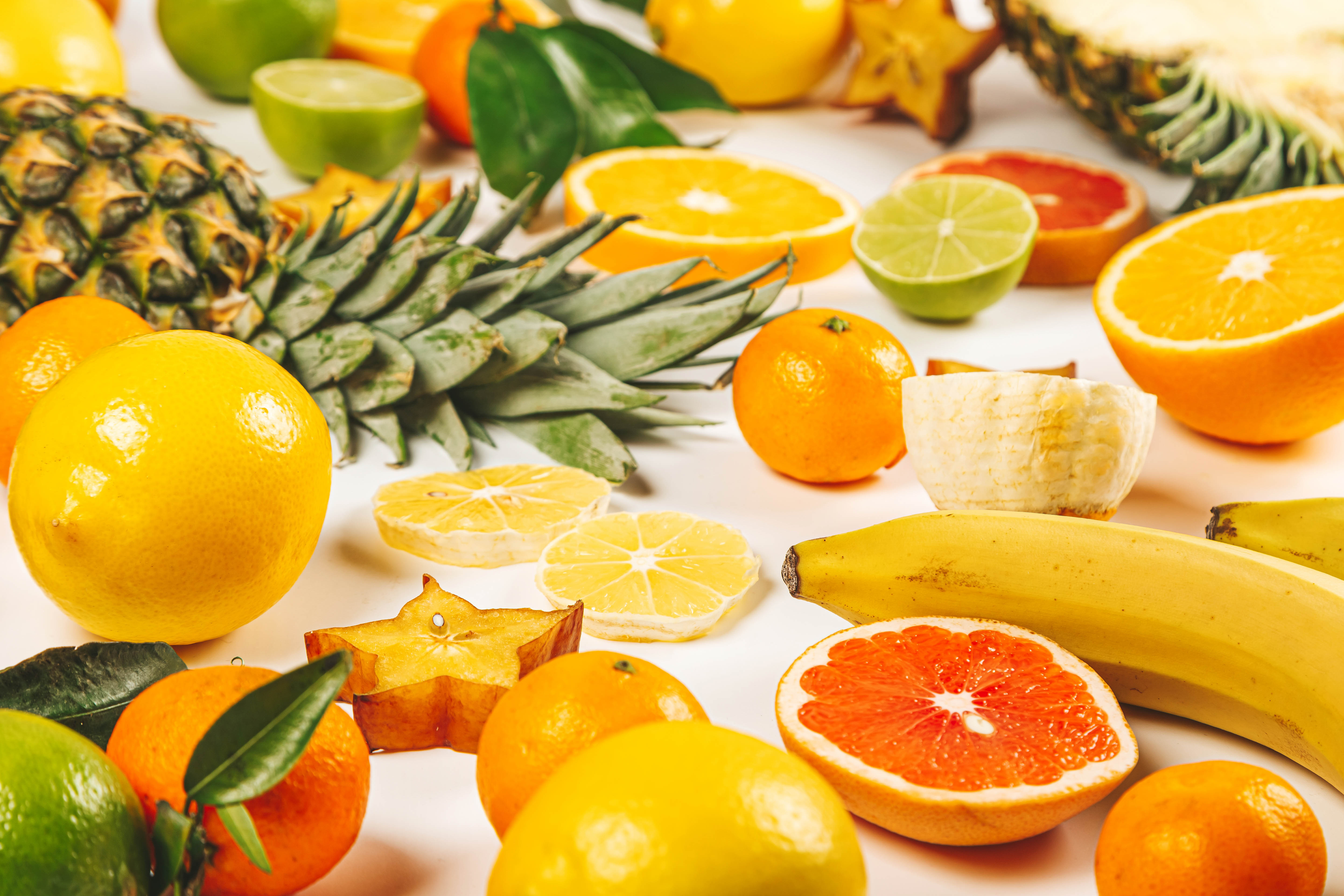 99474 Screensavers and Wallpapers Fruits for phone. Download Food, Banana, Lemon, Pineapple, Fruits pictures for free