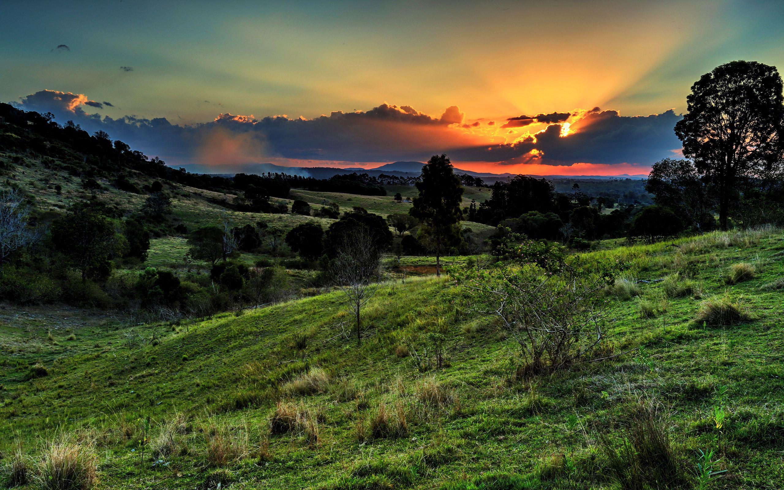 133255 завантажити шпалери Трава, Природа, Захід, Небо, Долина - заставки і картинки безкоштовно
