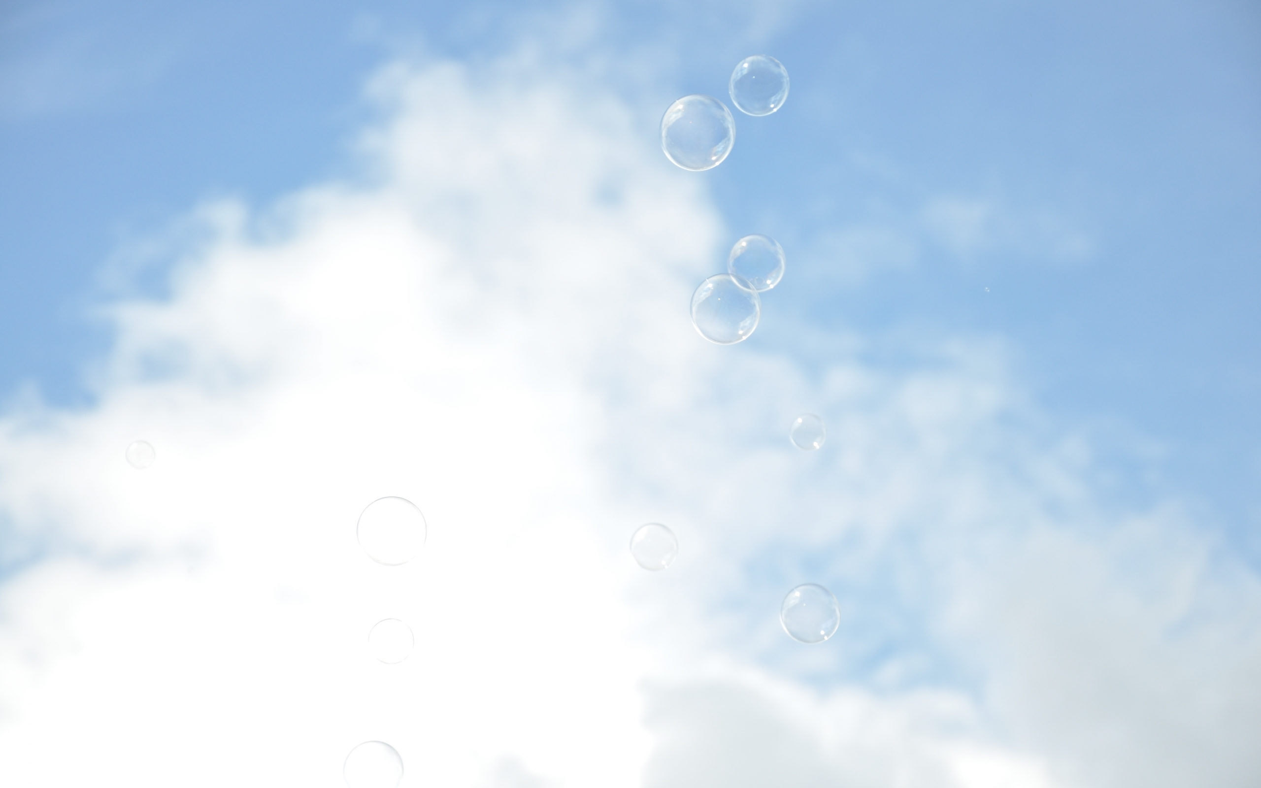 27612 download wallpaper Landscape, Sky, Bubbles, Clouds screensavers and pictures for free