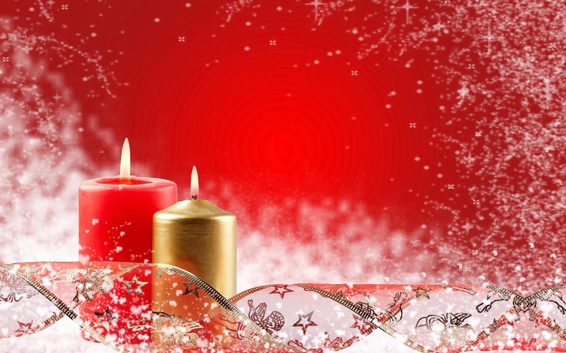 14095 скачать обои Праздники, Фон, Новый Год (New Year), Рождество (Christmas, Xmas), Свечи - заставки и картинки бесплатно