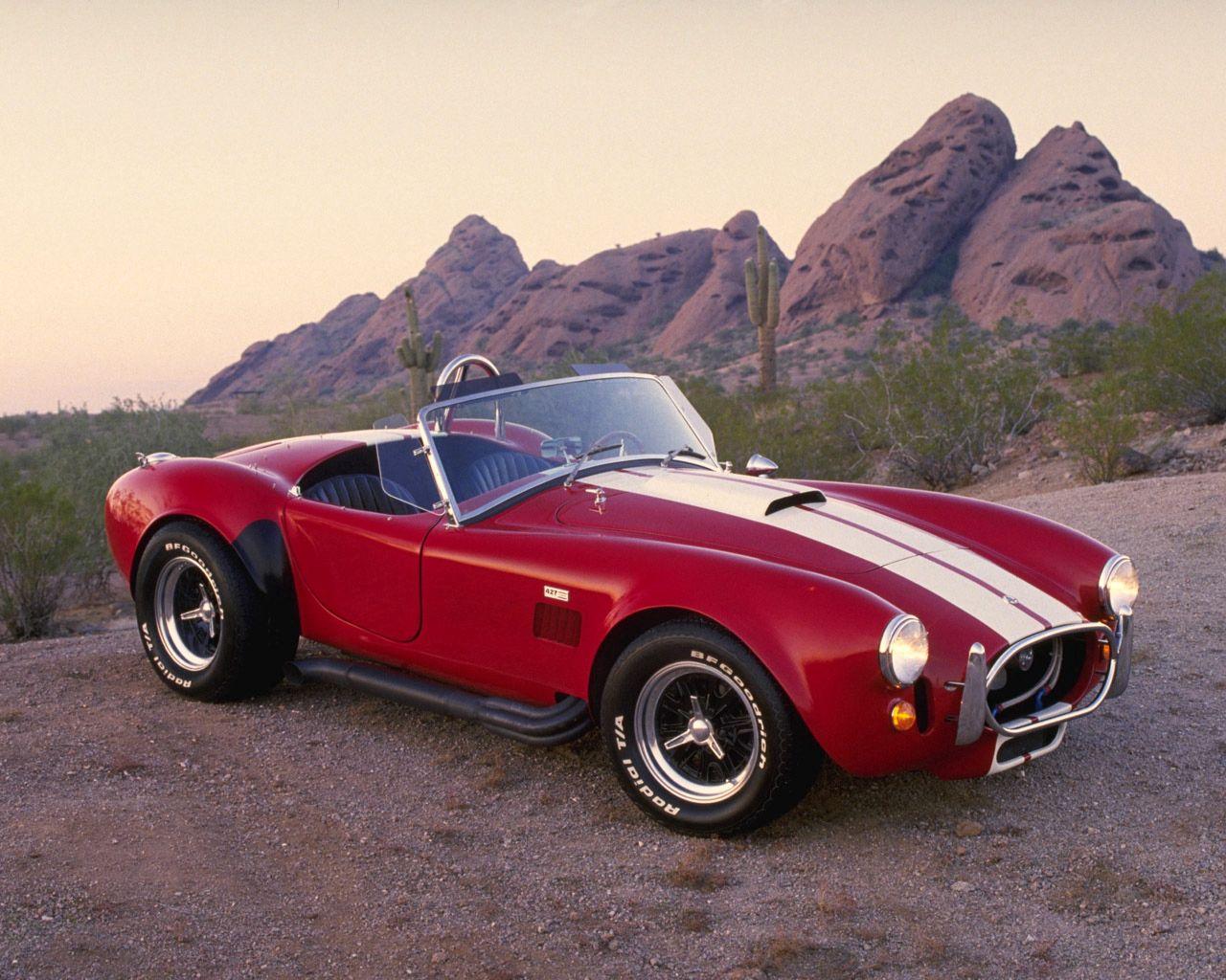 68932 скачать обои Ретро, Спорт, Пустыня, Кобра (Cobra), Тачки (Cars), Красный, Автомобиль, Стиль, Кобра, Кабриолет, 1962, Ac, Вид С Боку - заставки и картинки бесплатно