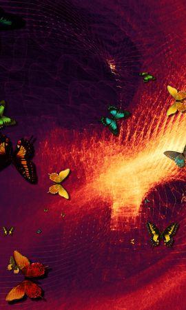 107920 descargar fondo de pantalla Abstracción, Mariposas, Arte, Photoshop: protectores de pantalla e imágenes gratis