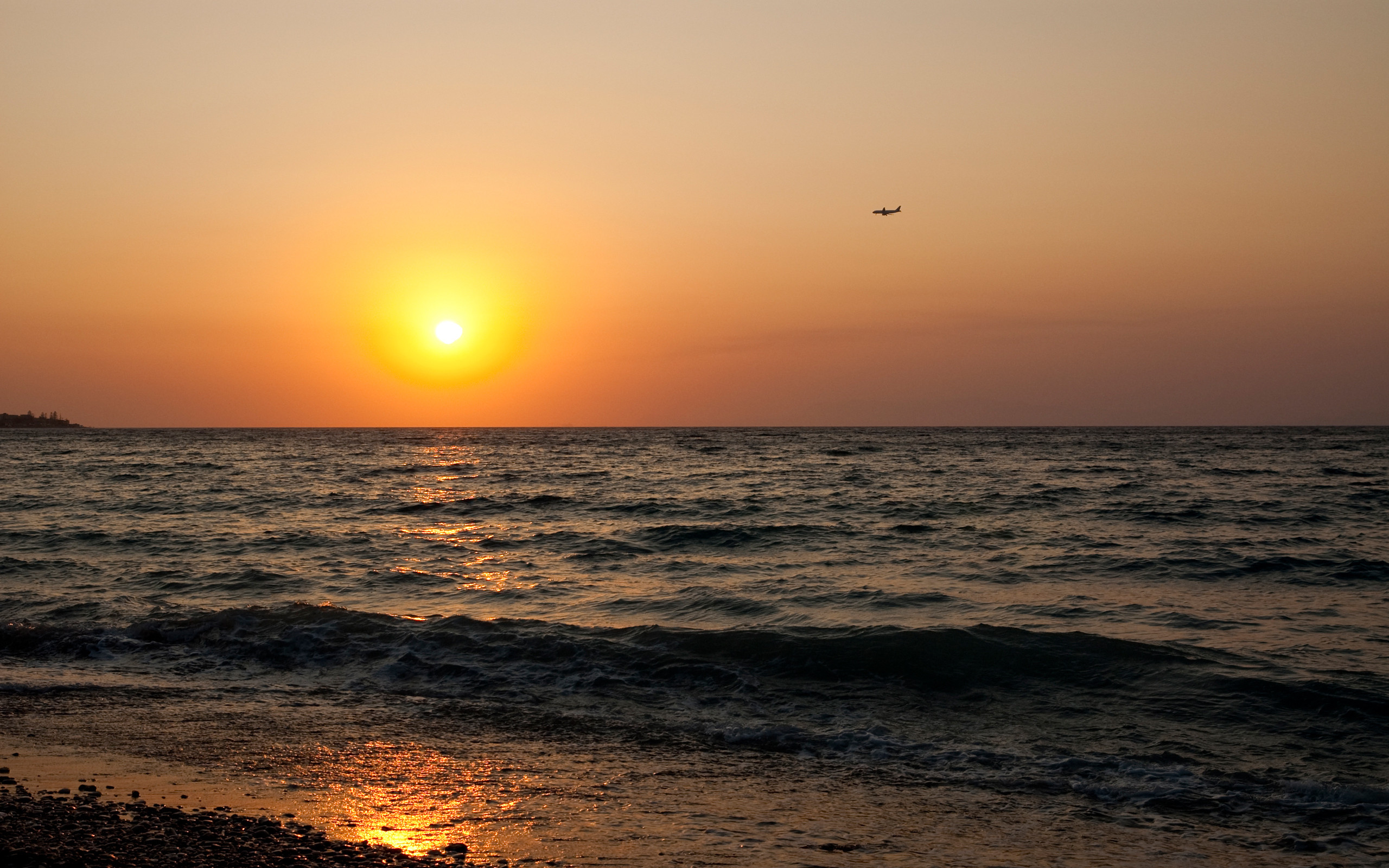 21937 download wallpaper Landscape, Sunset, Sea, Beach screensavers and pictures for free
