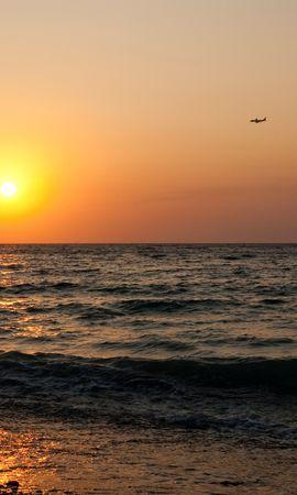 21937 скачать обои Пейзаж, Закат, Море, Пляж - заставки и картинки бесплатно