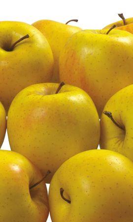 154957 скачать Желтые обои на телефон бесплатно, Еда, Вкусные, Полезные, Фрукты, Яблоки Желтые картинки и заставки на мобильный