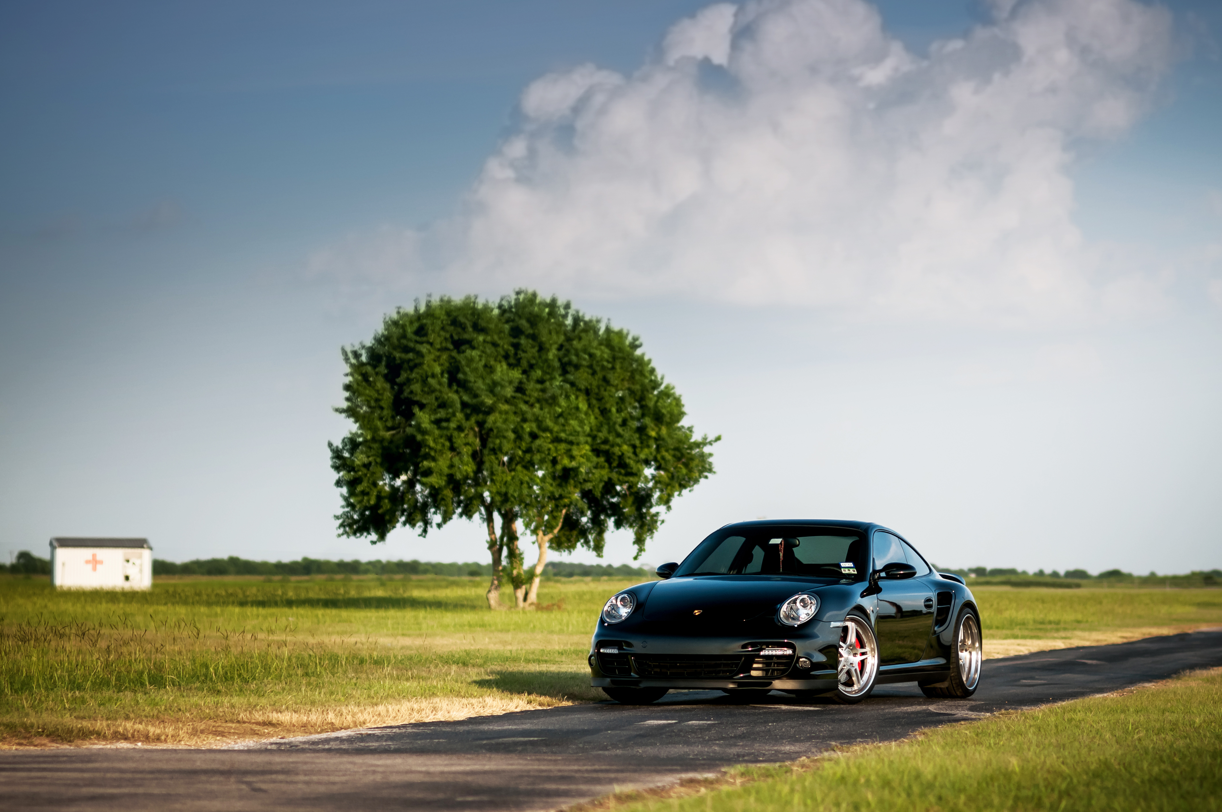 82651 download wallpaper Porsche, Sky, Cars, Wood, Tree, 911, 997, Front, Turbo screensavers and pictures for free