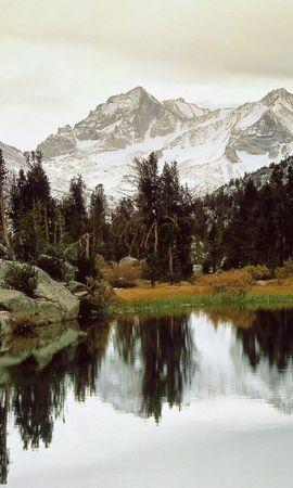 28013 télécharger le fond d'écran Paysage, Arbres, Montagnes, Lacs - économiseurs d'écran et images gratuitement