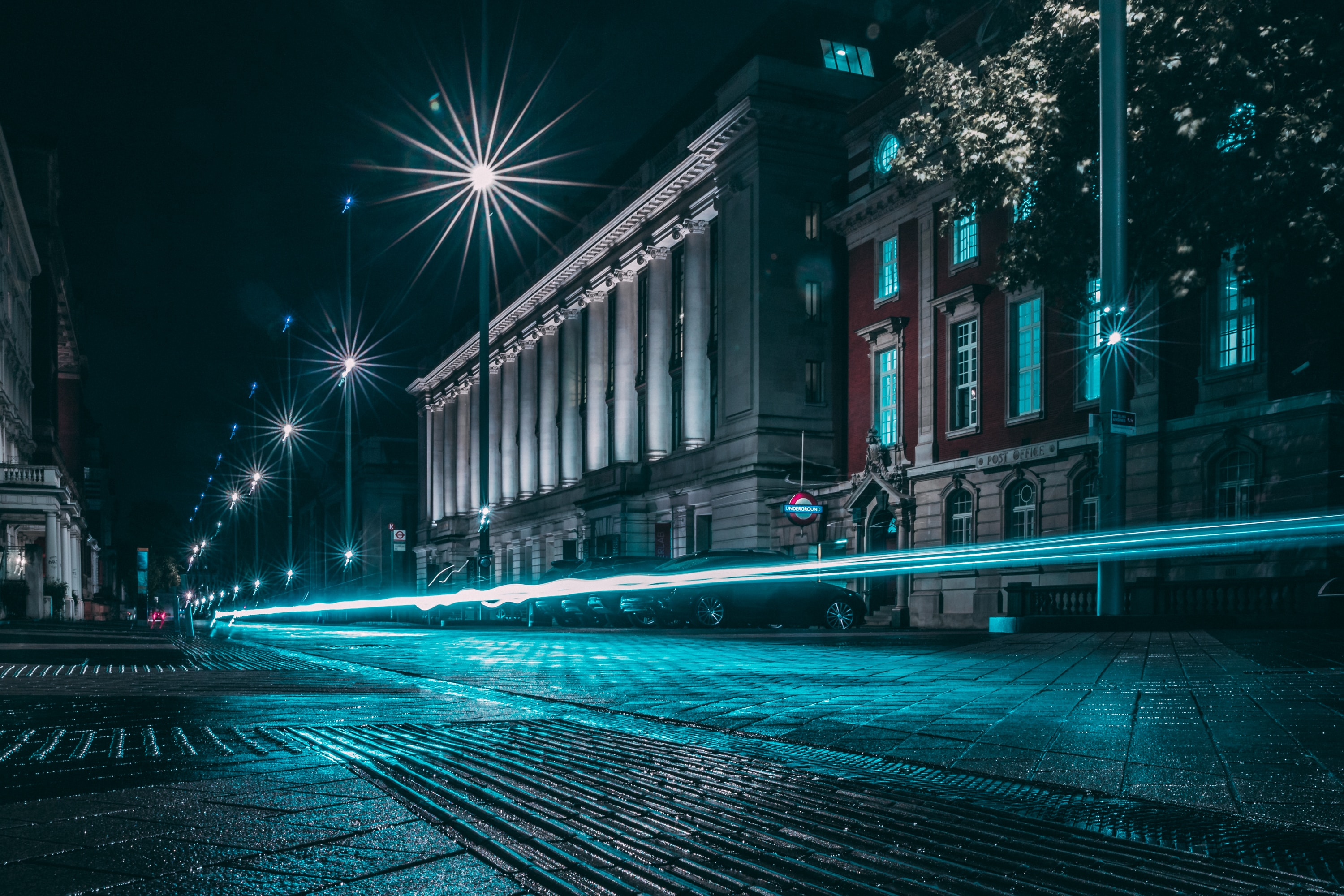 128401 Screensavers and Wallpapers Night City for phone. Download Cities, Lights, Shine, Light, Long Exposure, Night City, Street pictures for free