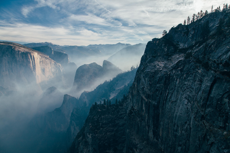 52535 Hintergrundbild herunterladen Natur, Stones, Sky, Felsen, Rock, Unterbrechung, Abgrund - Bildschirmschoner und Bilder kostenlos