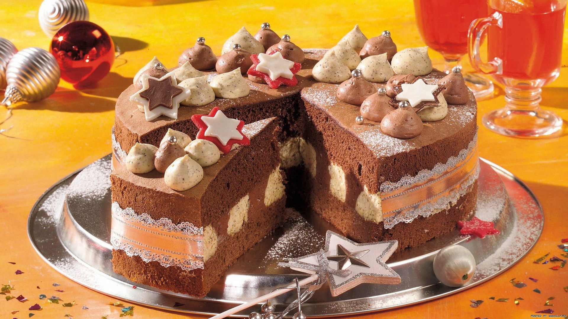 24126 download wallpaper Holidays, Food, New Year, Dessert, Christmas, Xmas screensavers and pictures for free