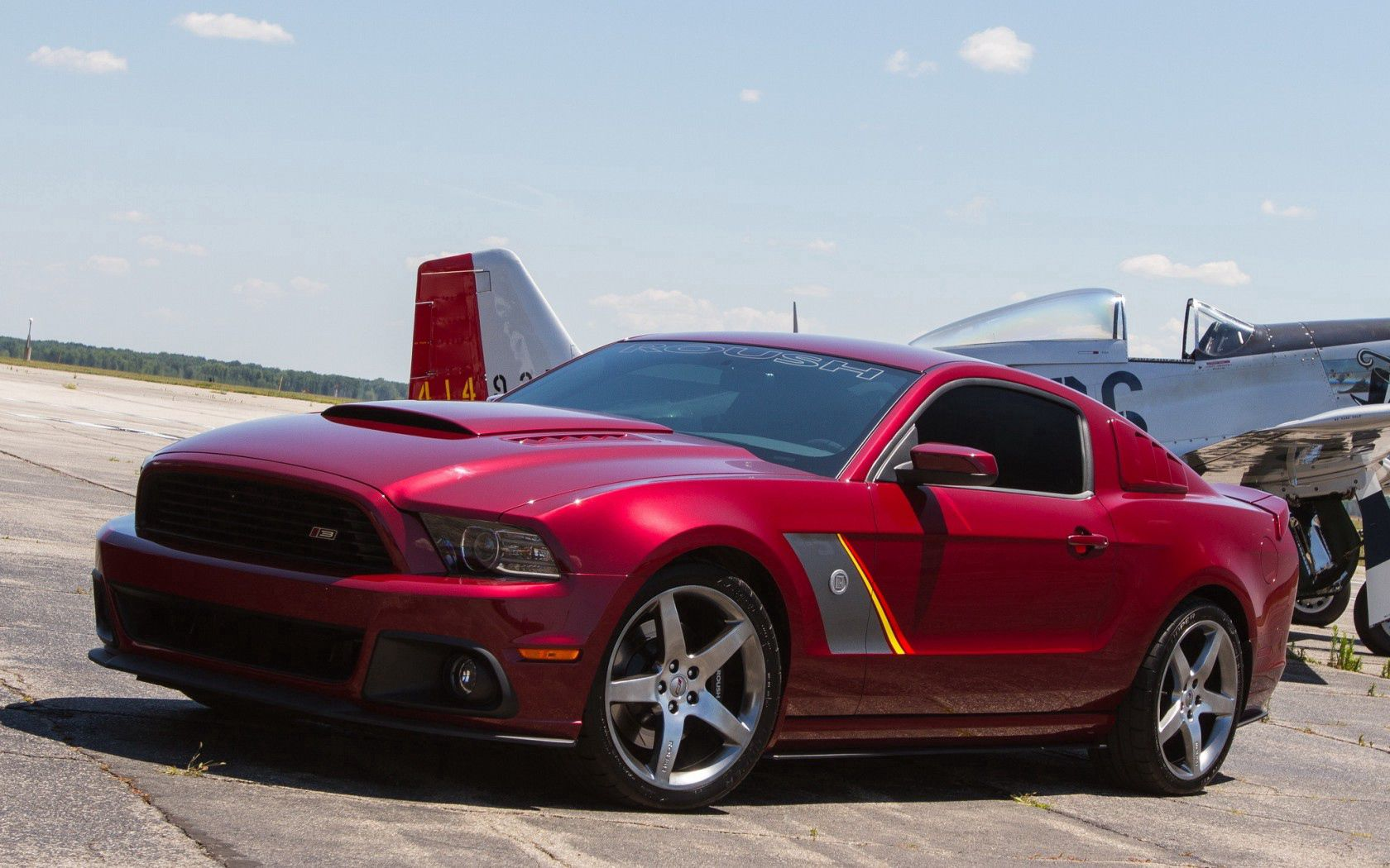 72608 download wallpaper Mustang, Cars, 2013, Roush, Stage 3, Premier, Edition screensavers and pictures for free