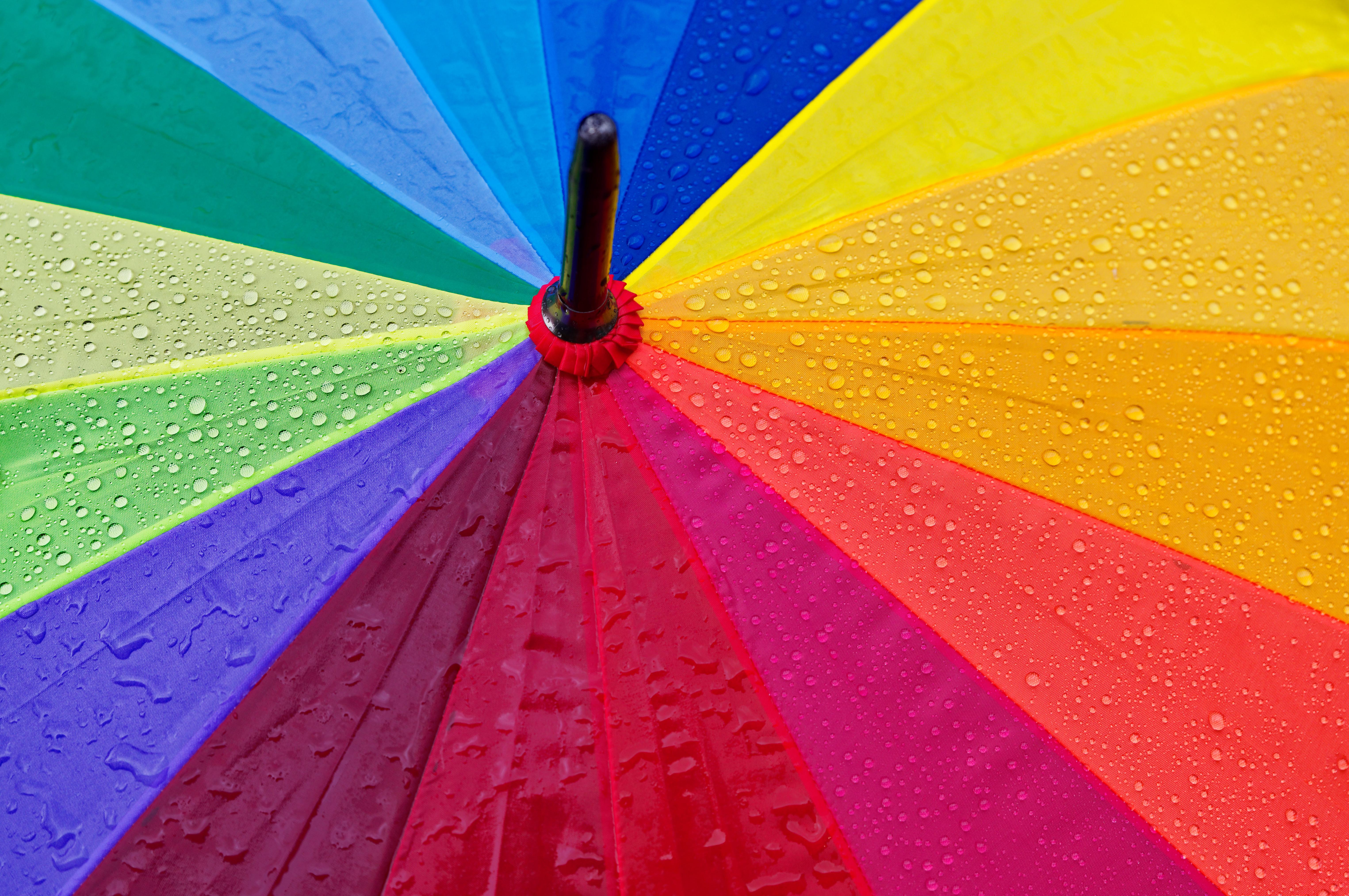 111609壁紙のダウンロードその他, 雑, 傘, 滴, 色とりどり, モトリー, 雨-スクリーンセーバーと写真を無料で