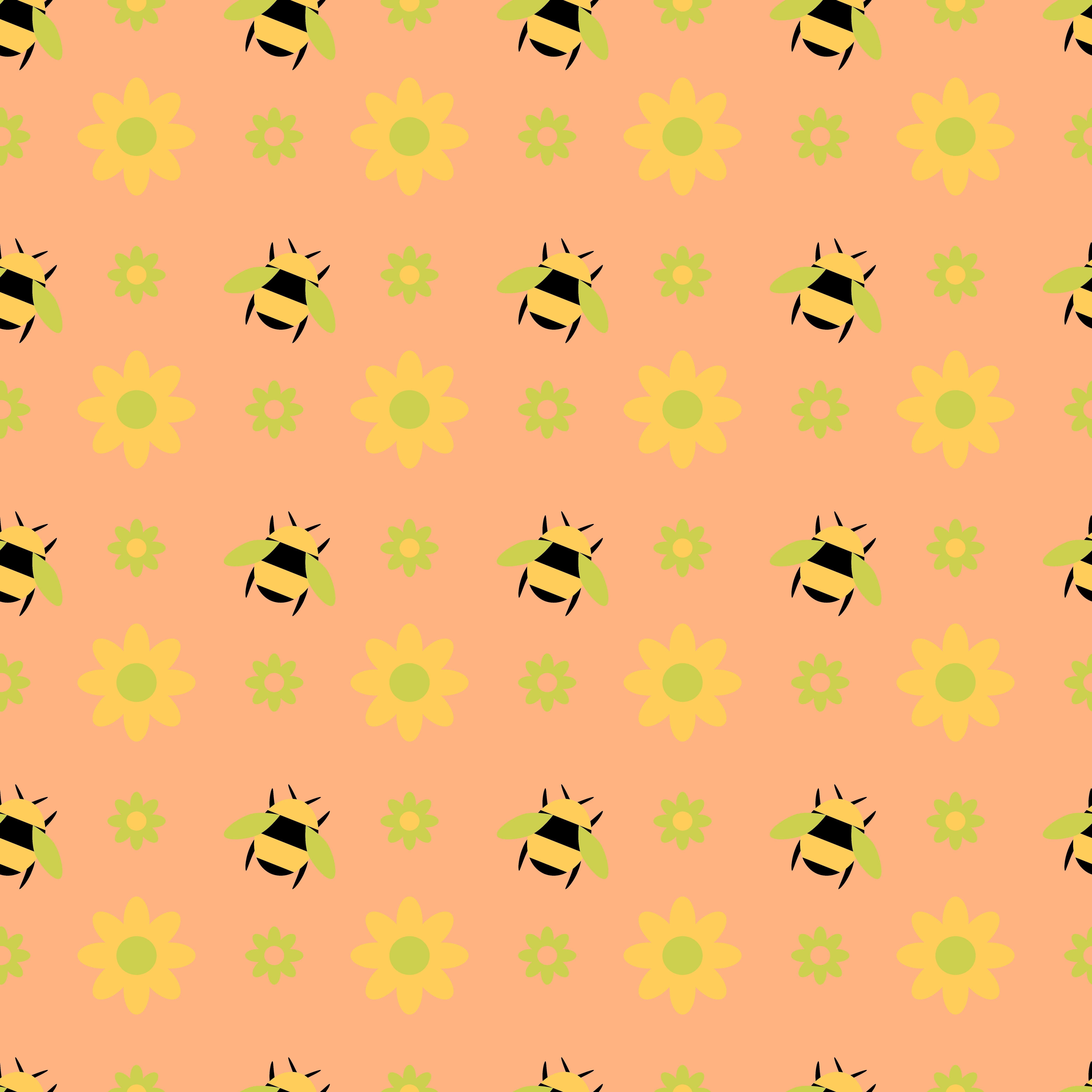 108607 Hintergrundbild herunterladen Blumen, Bienen, Patterns, Textur, Texturen - Bildschirmschoner und Bilder kostenlos