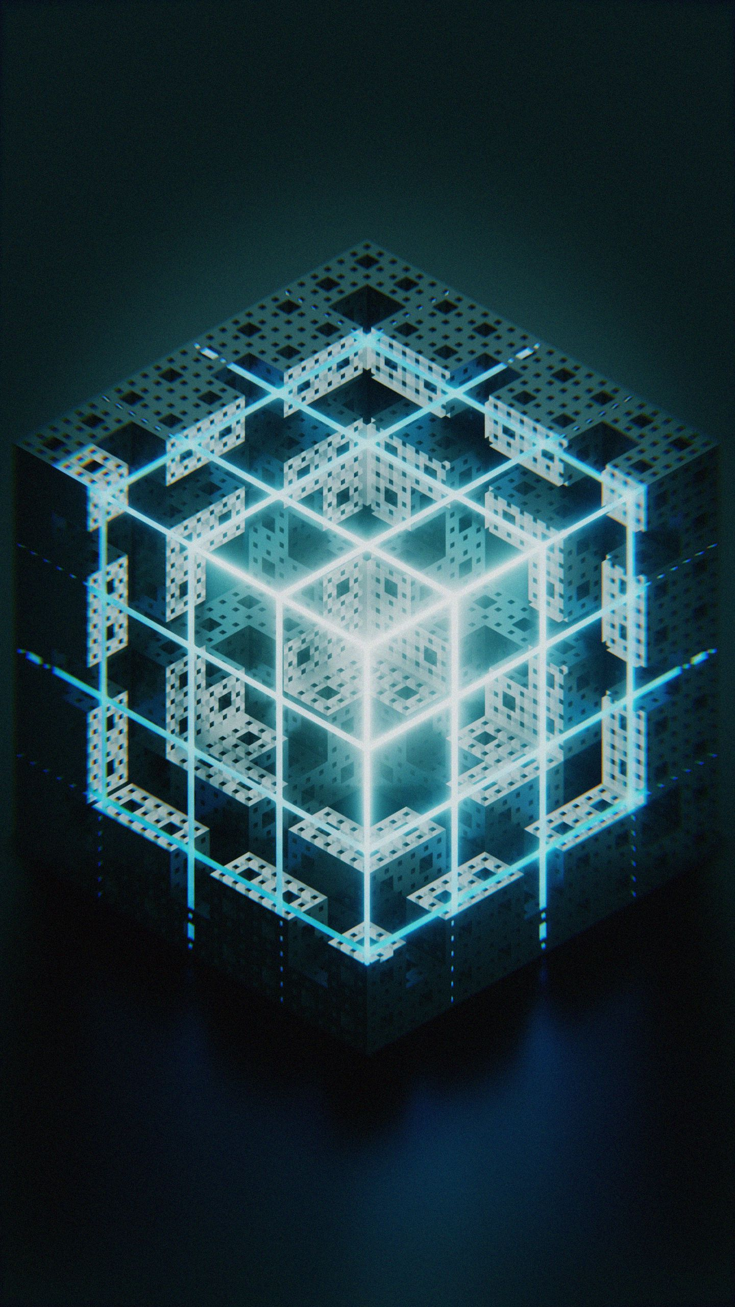 135456 download wallpaper Cube, Structure, Glow, Form, 3D screensavers and pictures for free
