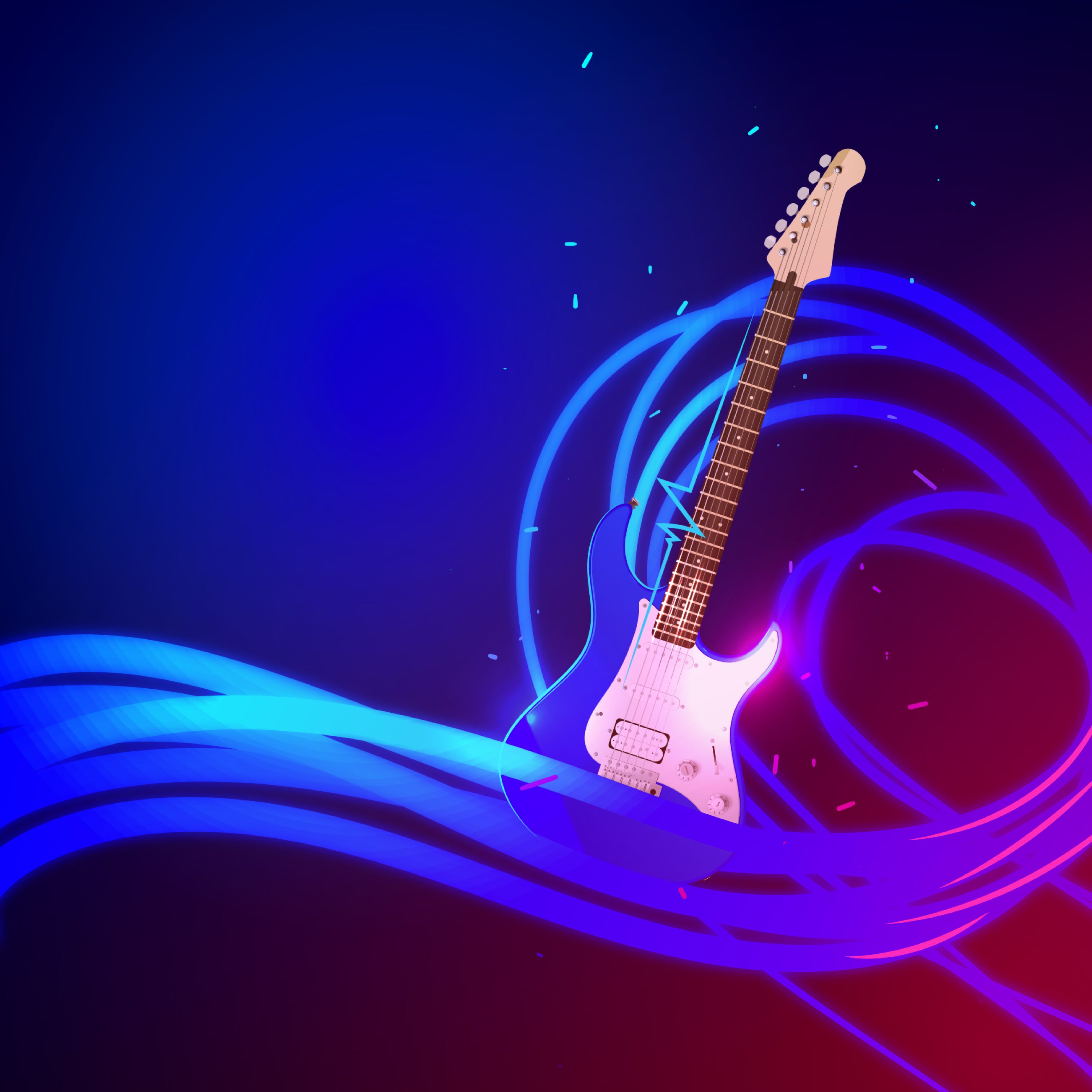 145624 download wallpaper Vector, Guitar, Art, Wavy, Music Internet, Musical Internet screensavers and pictures for free
