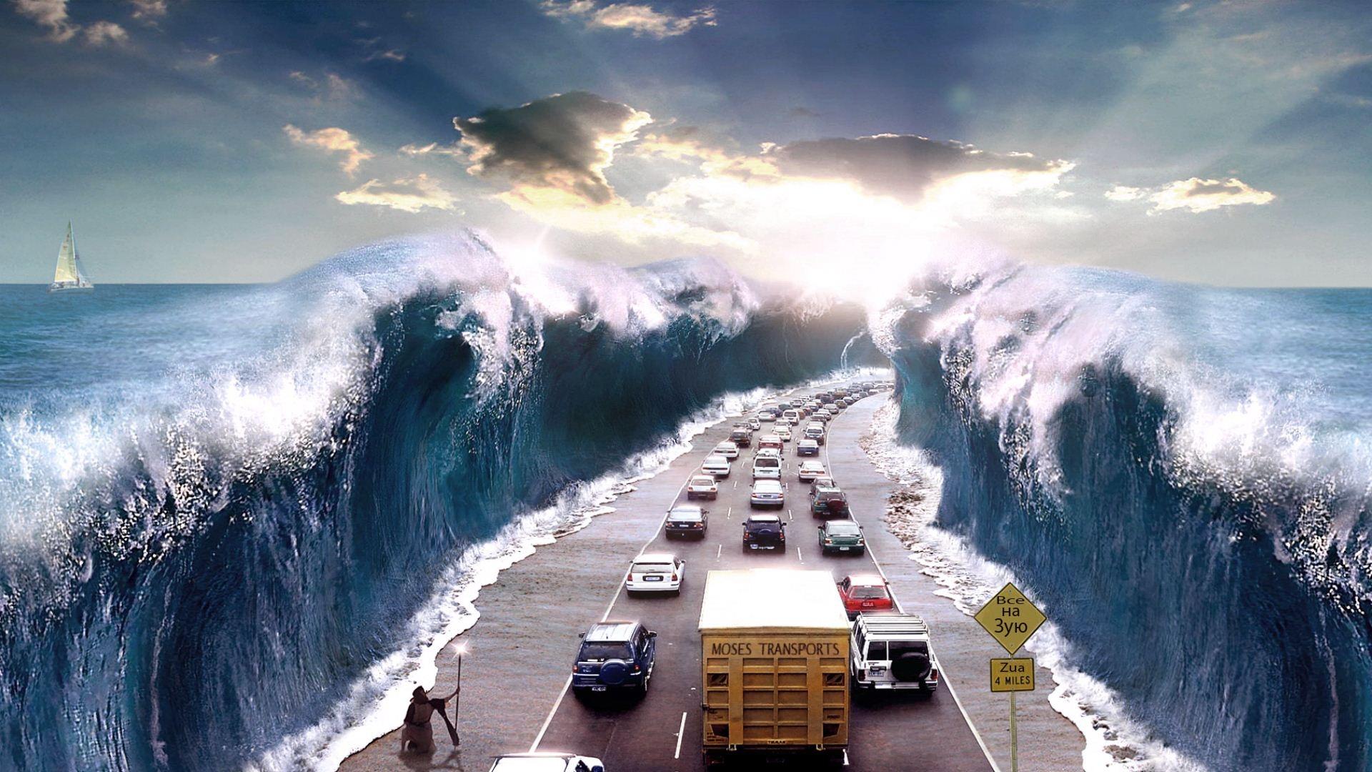 Скачать картинку Транспорт, Пейзаж, Машины, Дороги, Море в телефон бесплатно.
