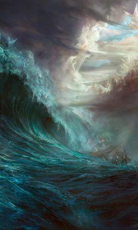 3437 baixar papel de parede Paisagem, Água, Céu, Mar, Ondas, Imagens - protetores de tela e imagens gratuitamente