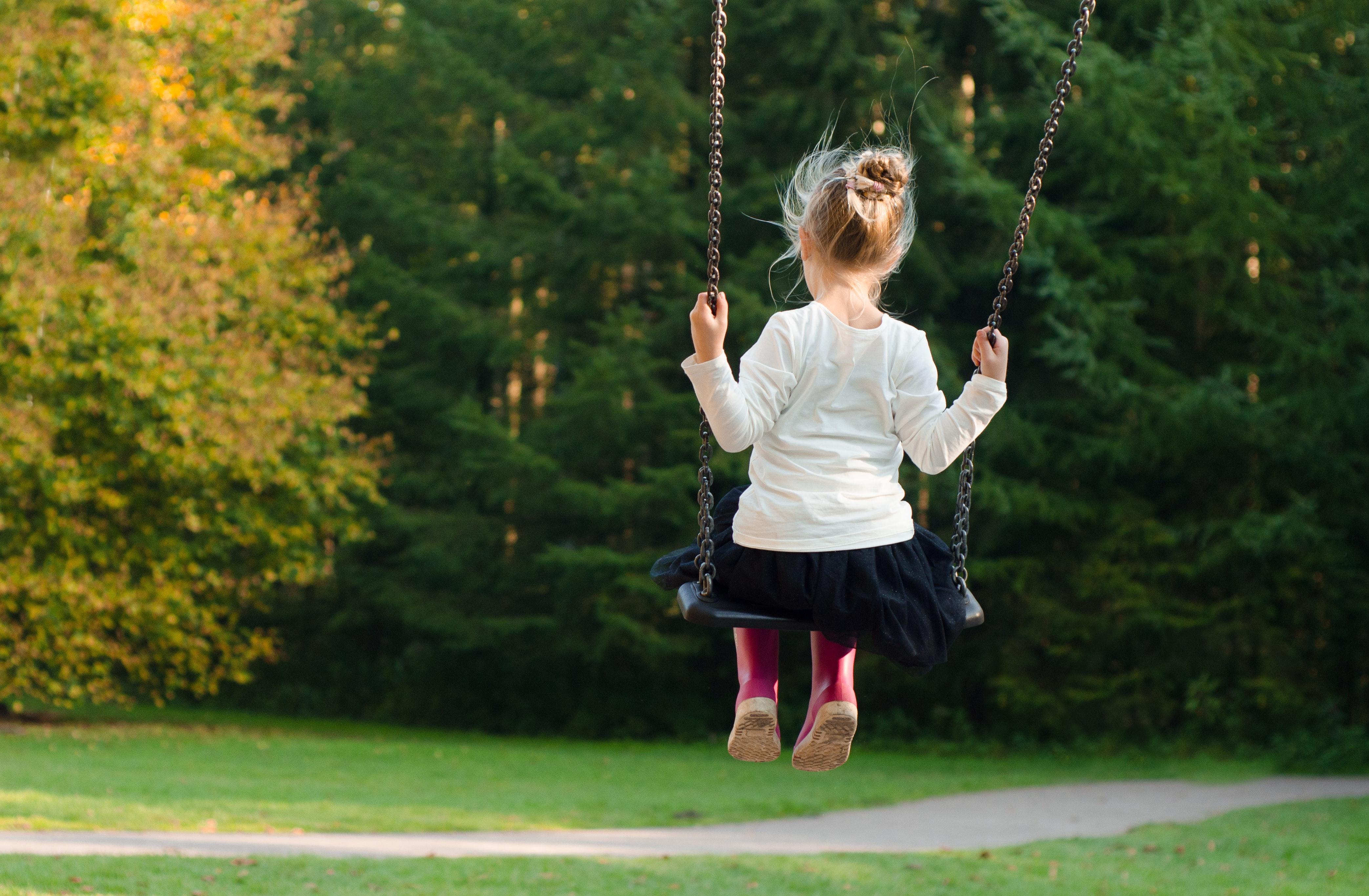 137246 скачать обои Разное, Ребенок, Девочка, Качели, Счастье, Детство - заставки и картинки бесплатно