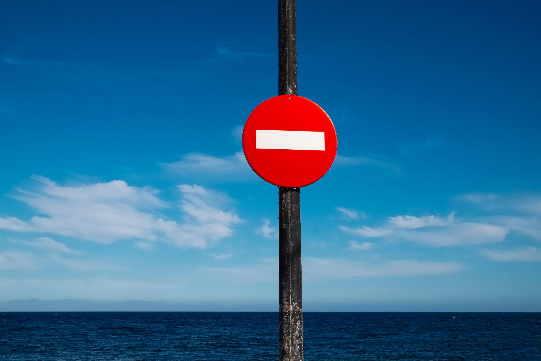 81492 免費下載壁紙 杂项, 符号, 标志, 禁止, 禁令, 红色的, 水, 地平线 屏保和圖片