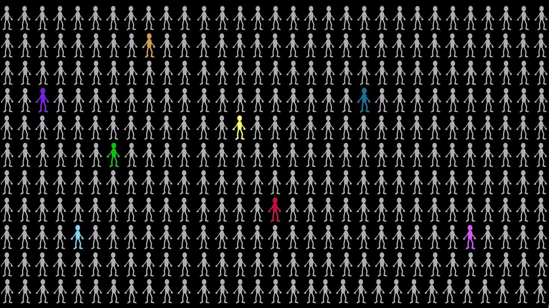 116892 обои 2160x3840 на телефон бесплатно, скачать картинки Люди, Фон, Текстуры, Рисунок, Человечки 2160x3840 на мобильный