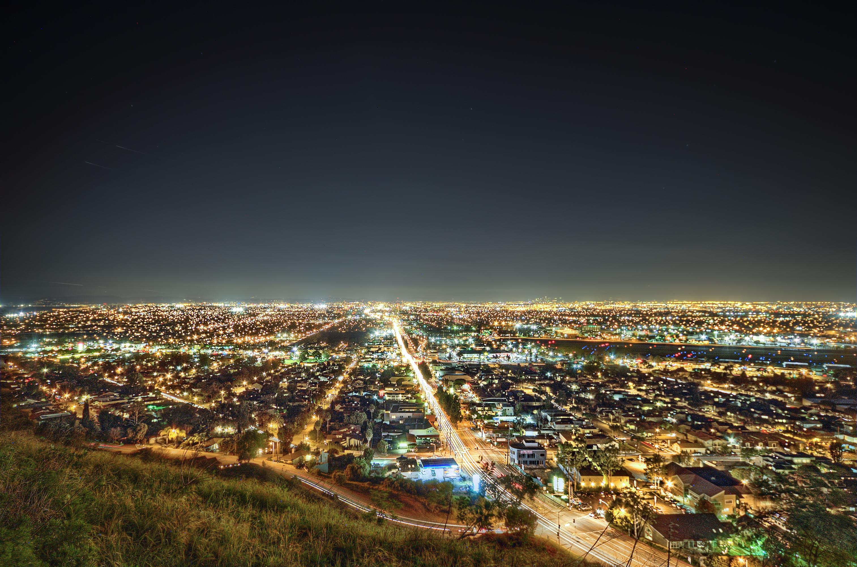 93645 papel de parede 480x800 em seu telefone gratuitamente, baixe imagens Cidades, Noite, Califórnia, Los Angeles 480x800 em seu celular
