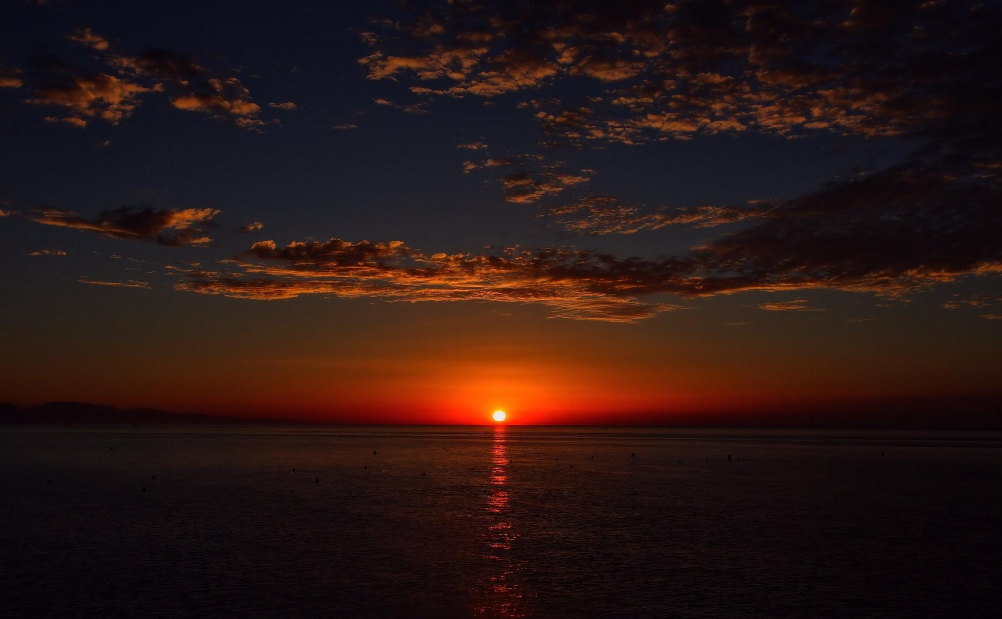 84741 скачать обои Небо, Облака, Море, Природа, Горизонт - заставки и картинки бесплатно