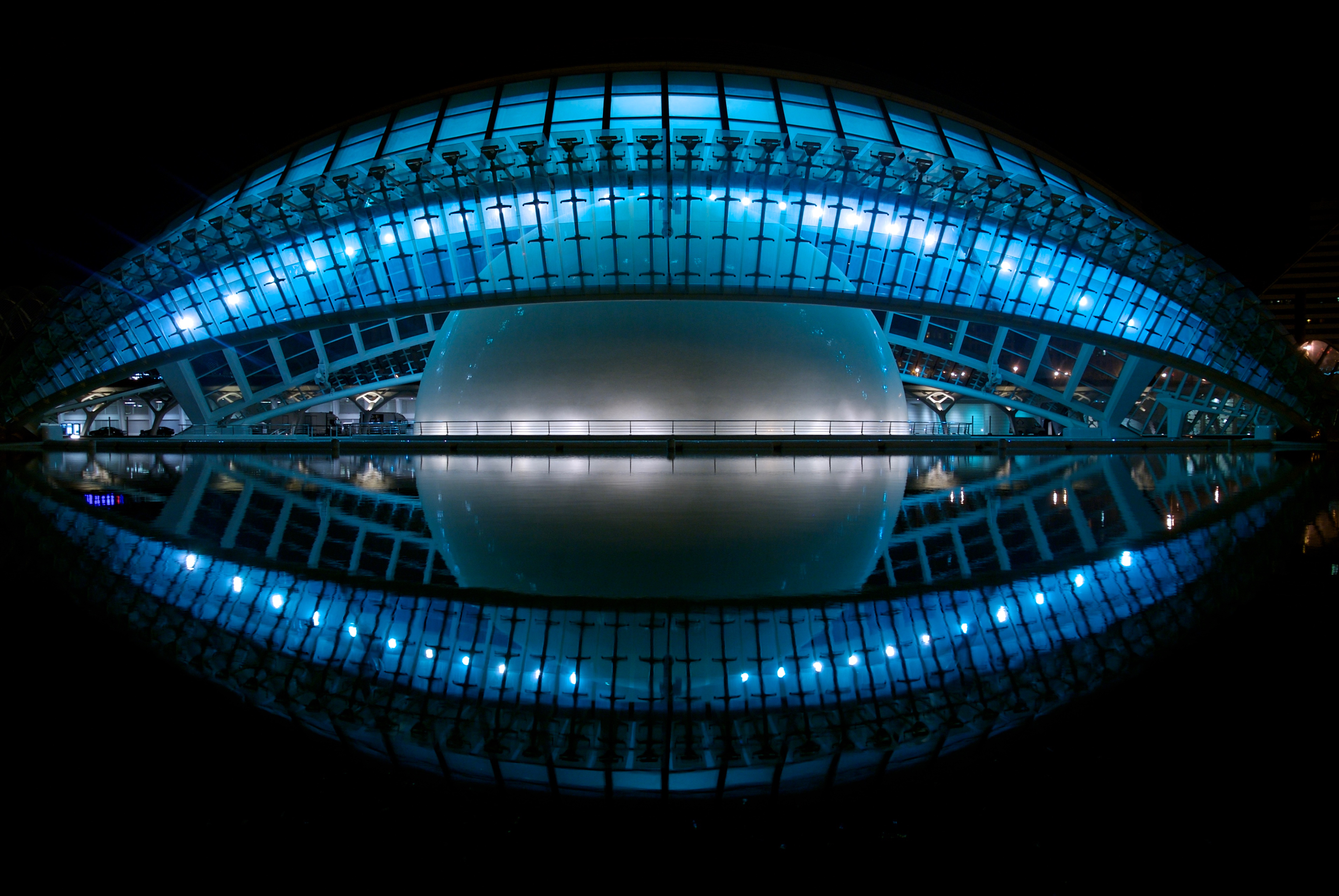 100342 download wallpaper Hemisferic, Valencia, Spain, Cinema, Planetarium, Cities screensavers and pictures for free