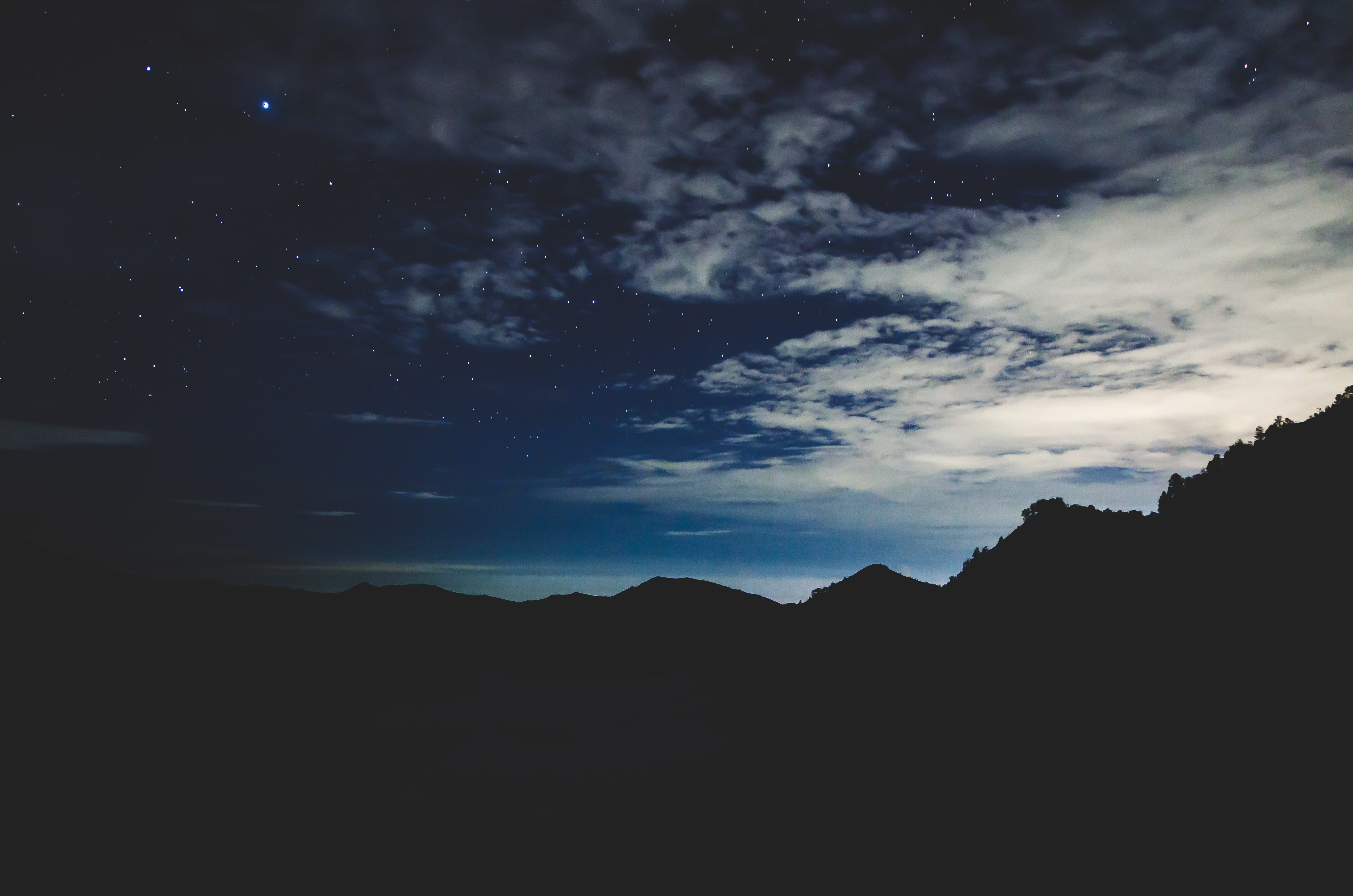 117915 download wallpaper Dark, Night, Sky, Mountains, Stars screensavers and pictures for free