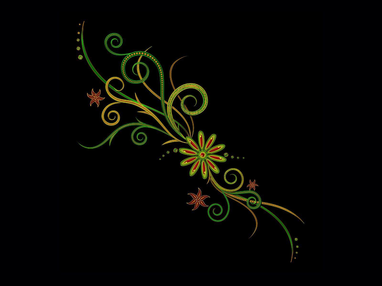 99095 скачать обои Абстракция, Цветы, Фон, Узоры, Темный Фон - заставки и картинки бесплатно