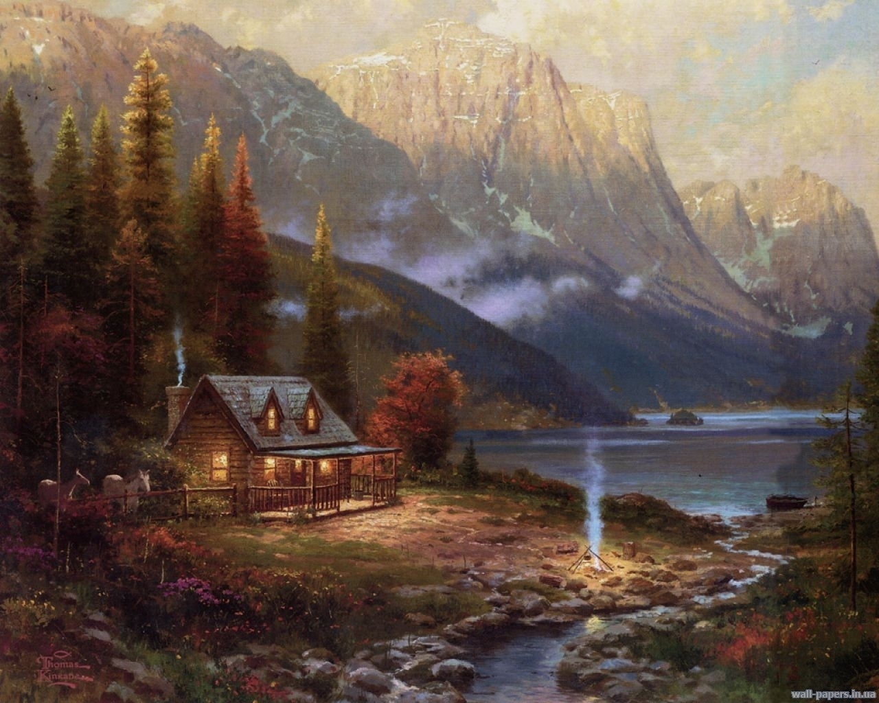 4481 download wallpaper Landscape, Houses, Rivers, Pictures screensavers and pictures for free