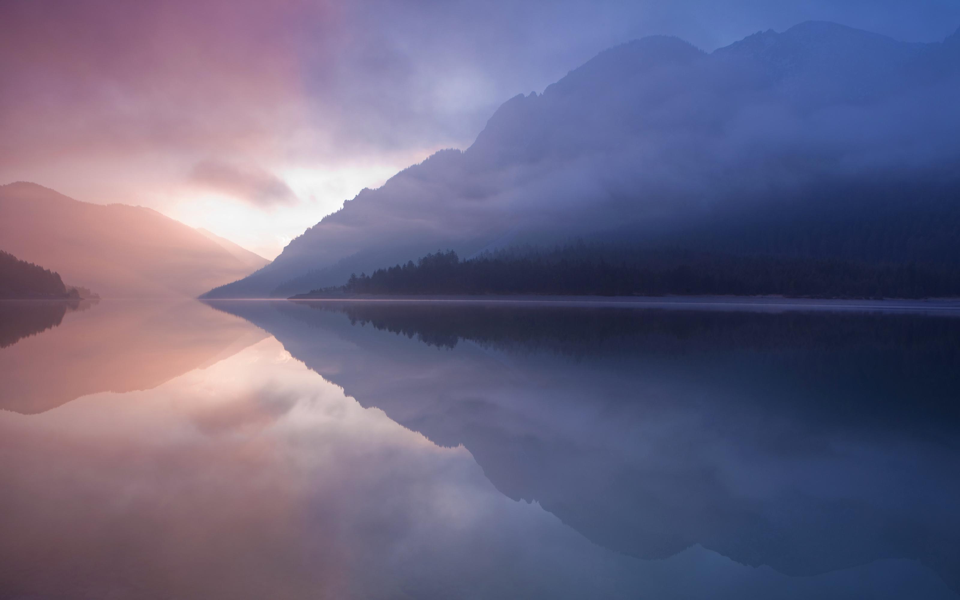 19014 скачать обои Пейзаж, Закат, Горы, Озера - заставки и картинки бесплатно