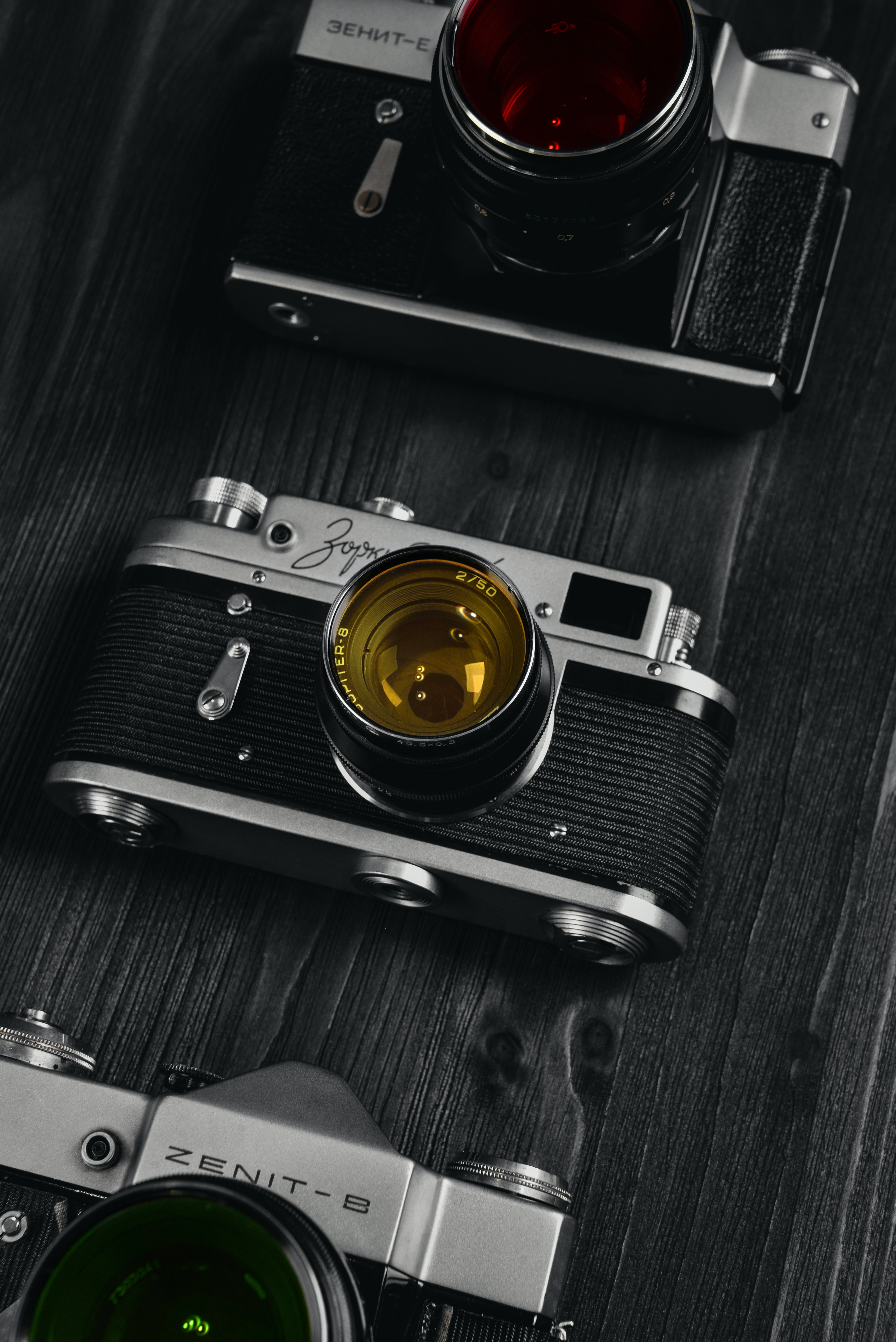 144238 download wallpaper Vintage, Bw, Chb, Retro, Lenses, Technologies, Technology, Camera, Cameras screensavers and pictures for free